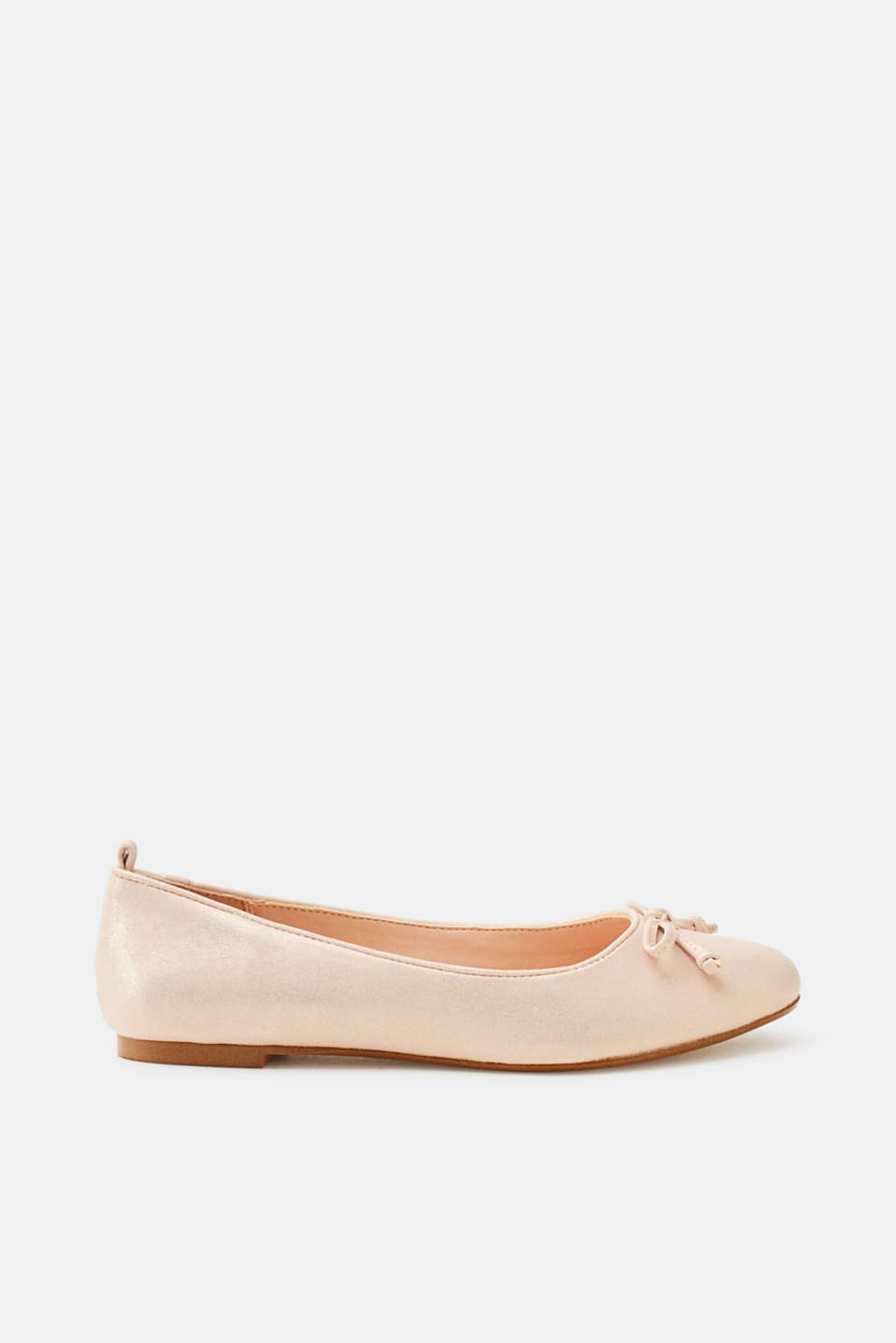 Esprit - Ballerinas with a bow in a glittery look