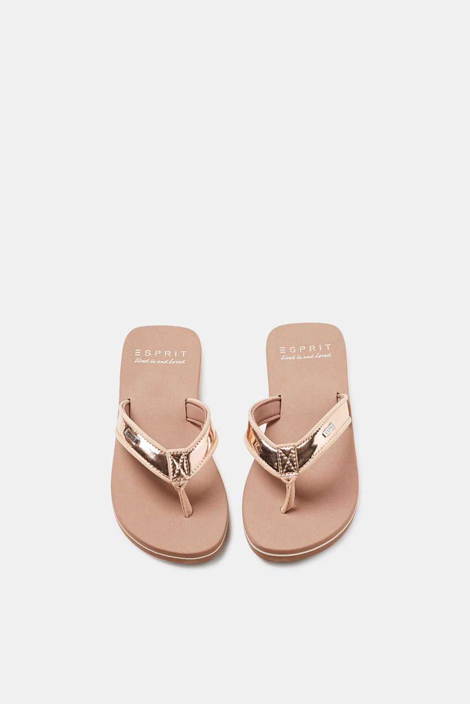 Slip slops with lack straps