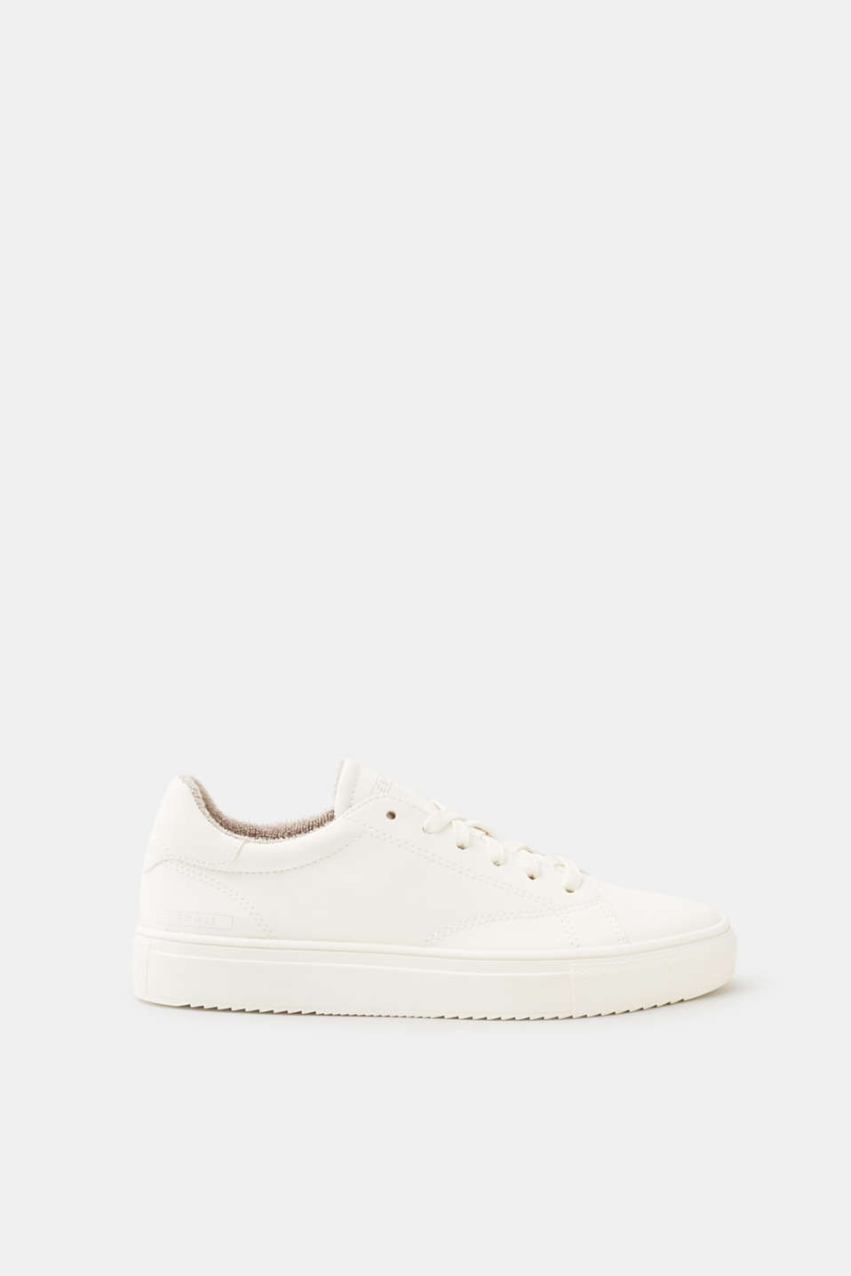 Esprit - Smooth faux leather lace-up trainers