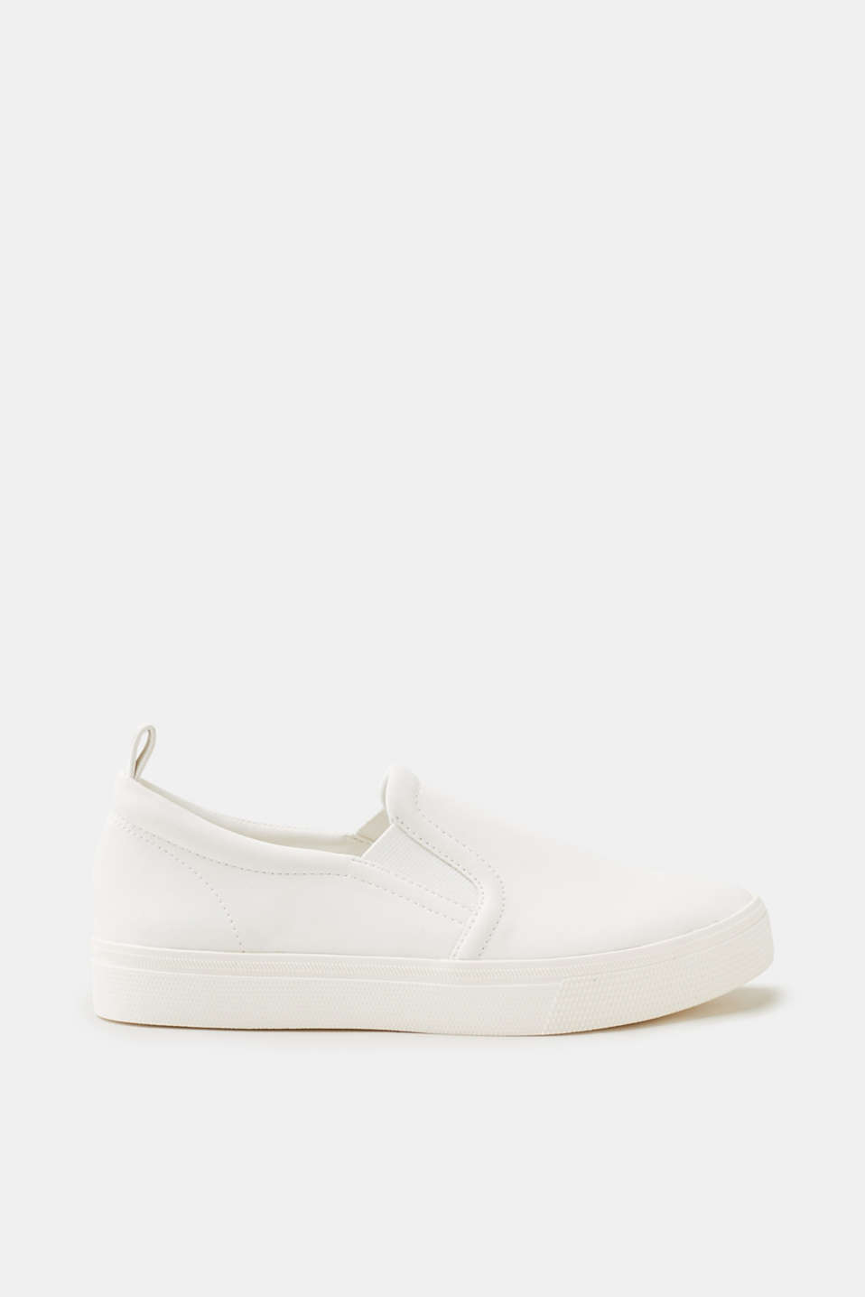 Esprit - Slip On-Sneaker in glatter Leder-Optik