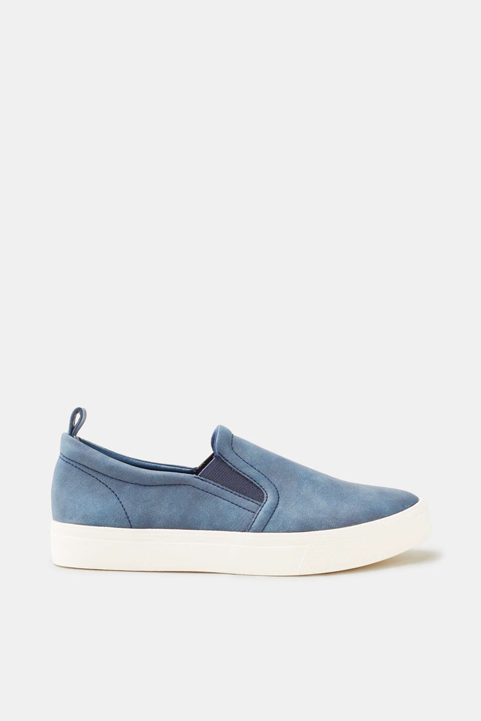 Esprit - Slip on-sneakers i glat skind-look