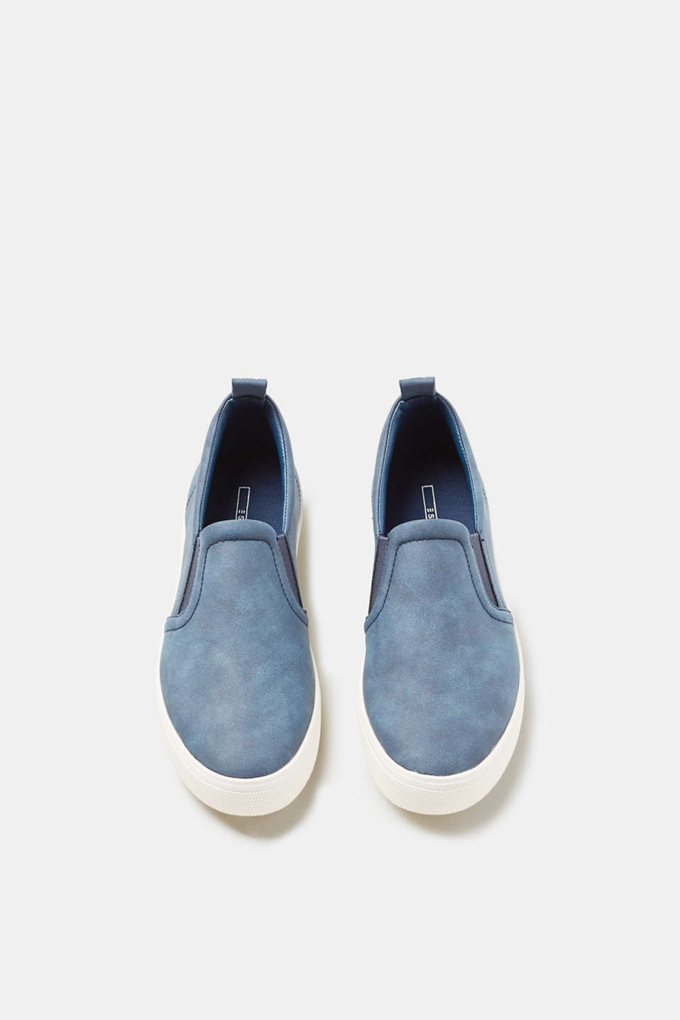 Slip on-sneakers i glat skind-look