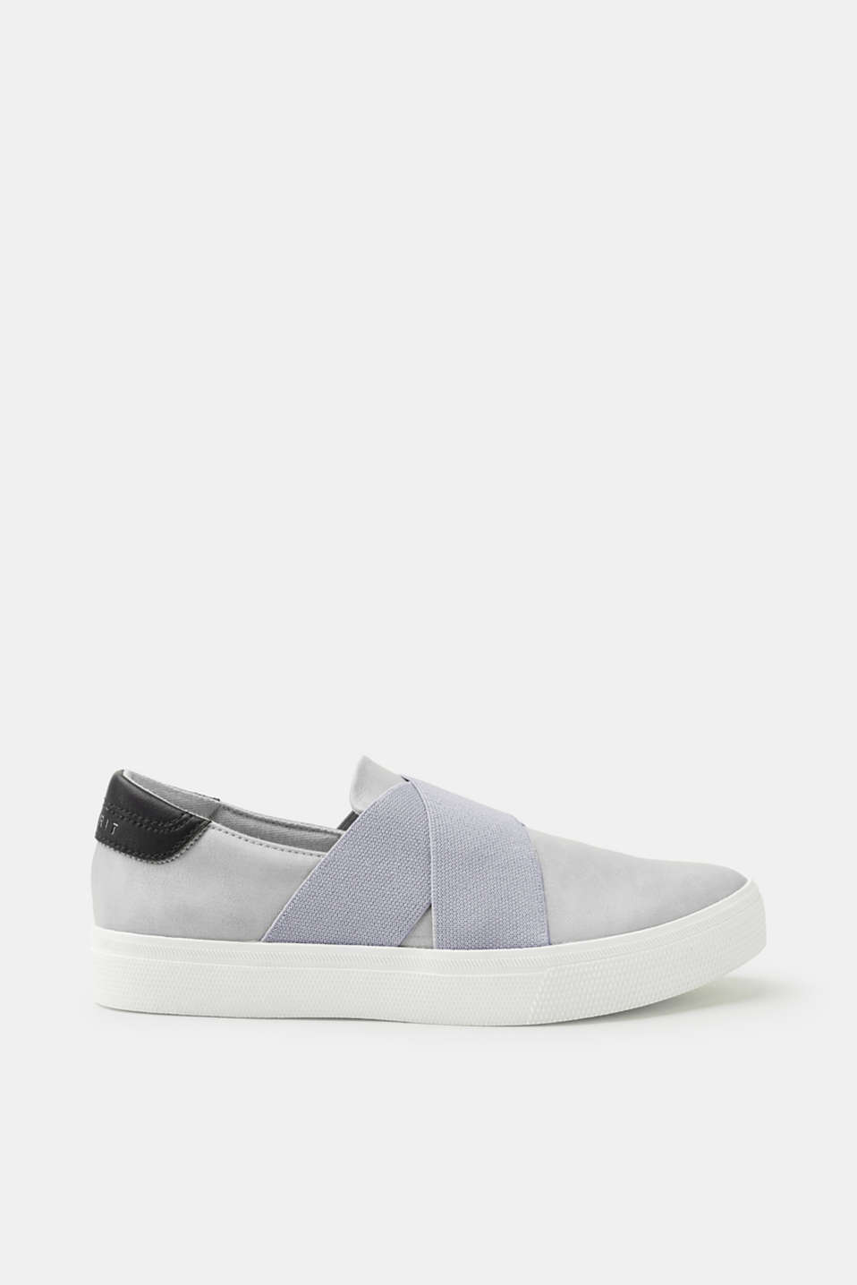 Esprit - Slip-on trainers in faux leather