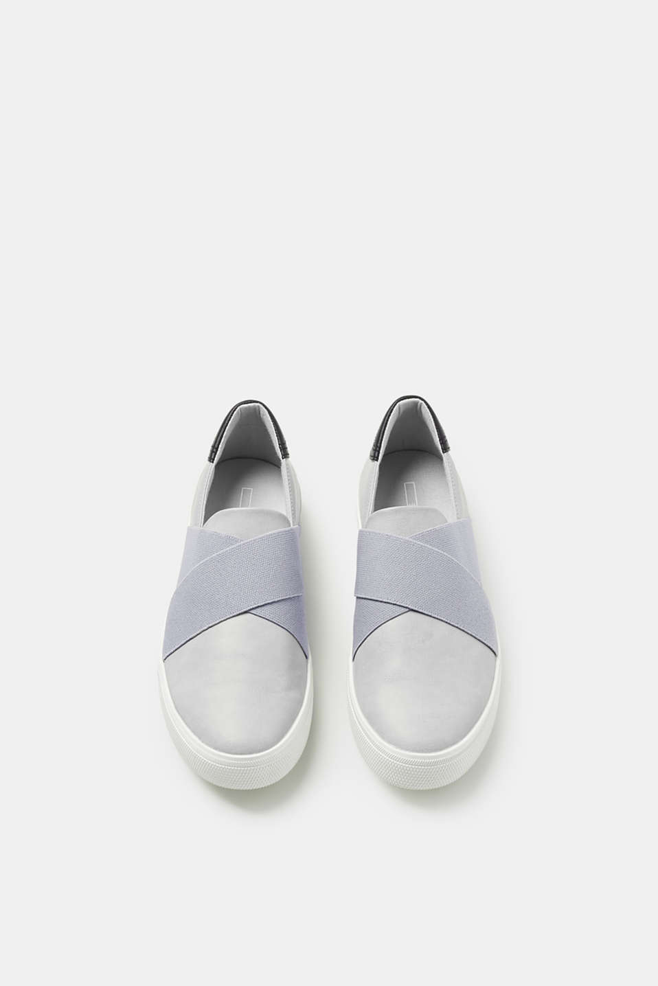 Slip-on trainers in faux leather