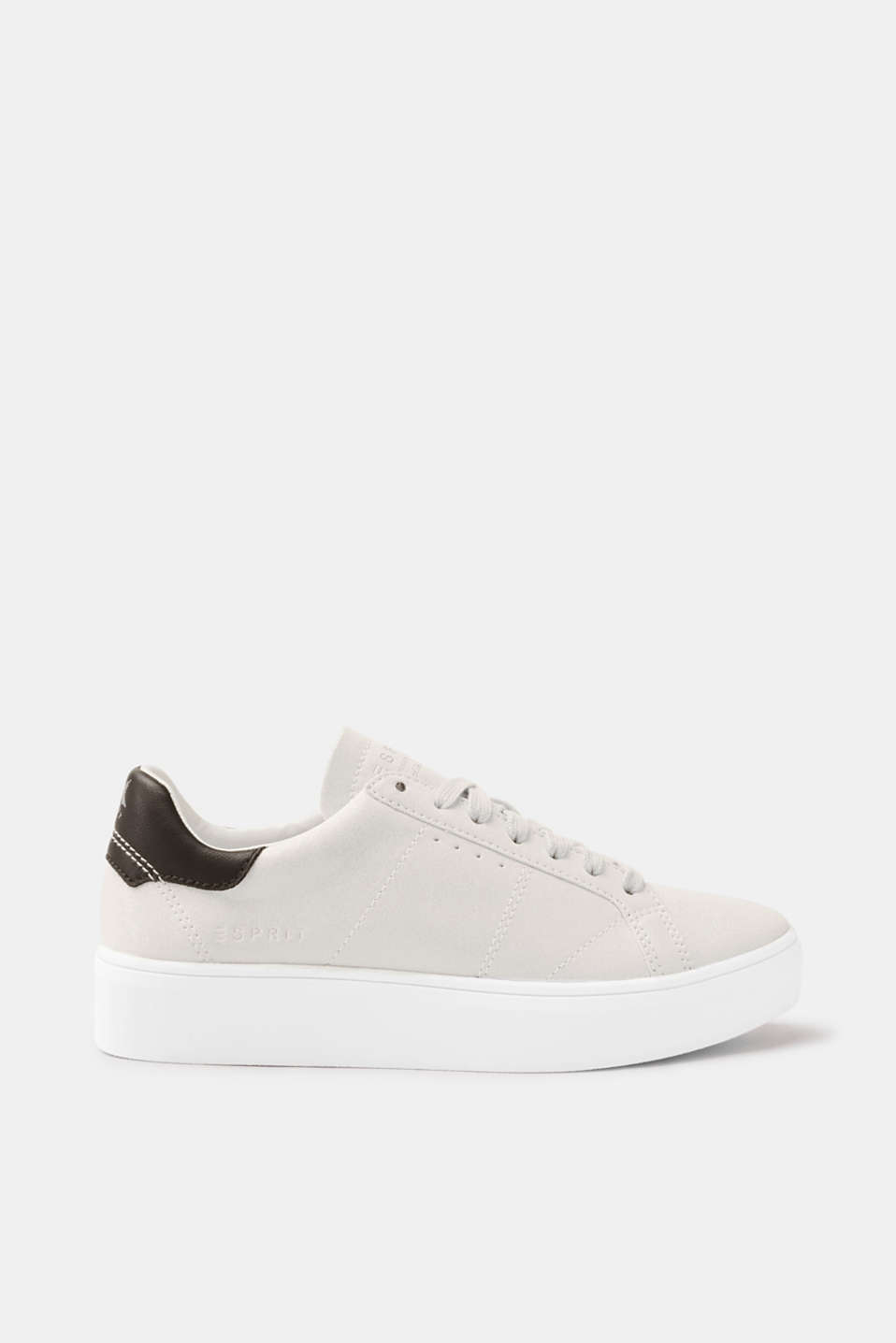 Esprit - Faux leather trainers with a glitter finish