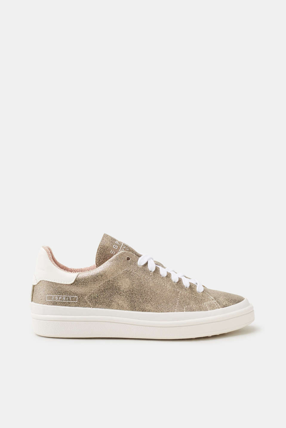 Esprit - Trendy trainers in a metallic finish