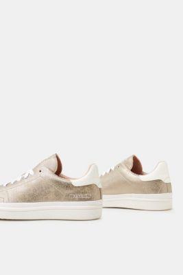 Esprit ESPRIT Trend-Sneaker im Metallic-Look, natur, NUDE