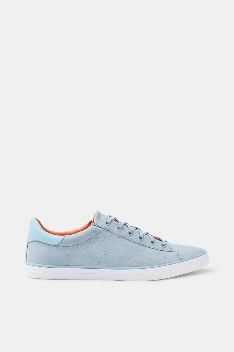 Esprit Sneaker mit Farbakzent, in Leder-Optik für Damen, Größe 41, Aqua Green