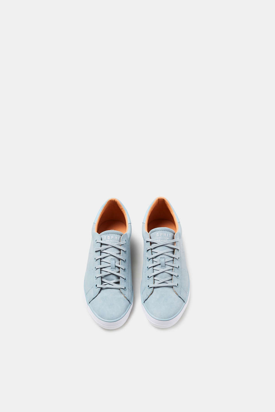 Faux nubuck lace-up trainers