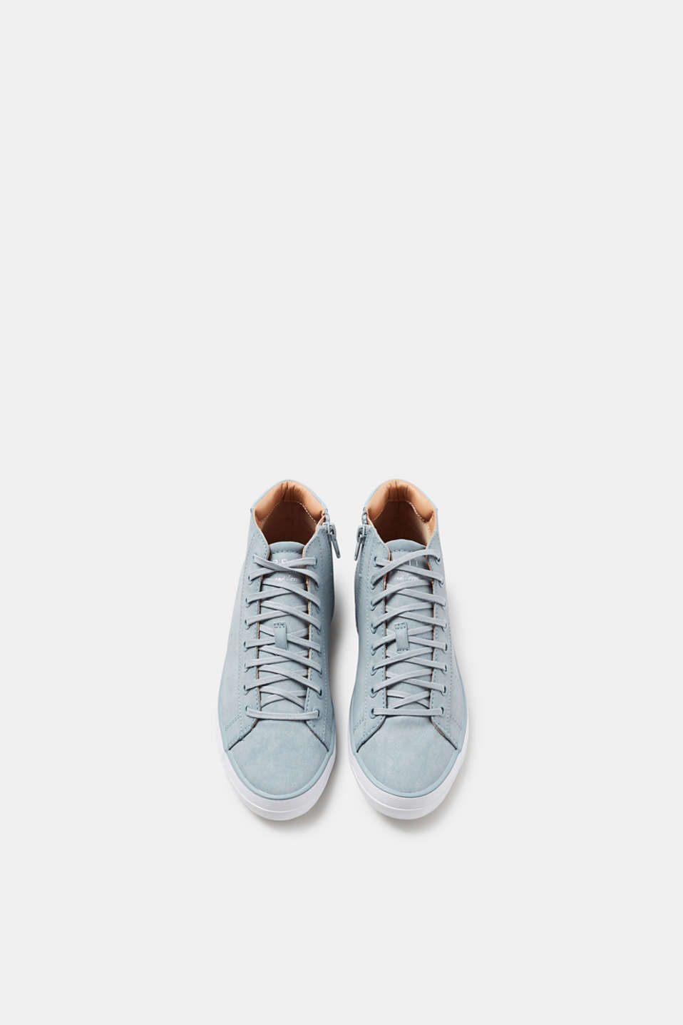 Ankle-high trainers in faux leather