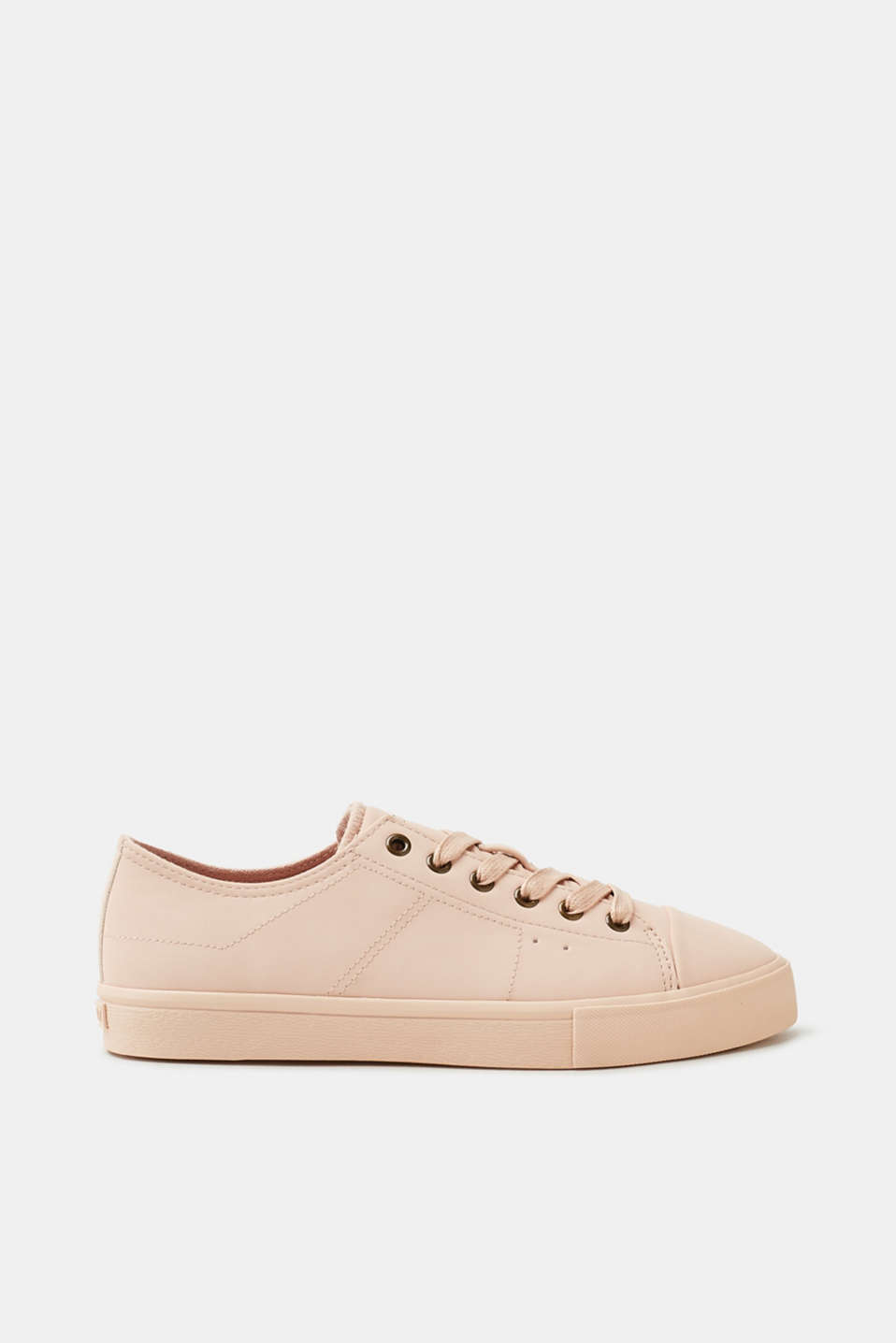 Esprit - Trendy faux leather lace-up trainers