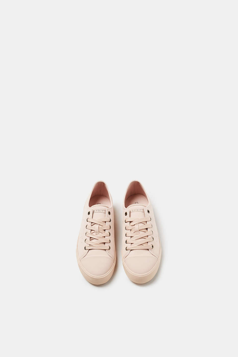 Trendy faux leather lace-up trainers