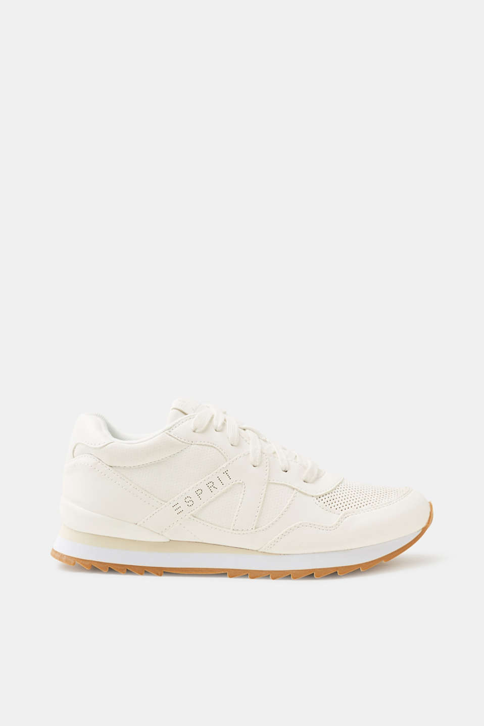 Esprit - Sporty trainers in faux leather