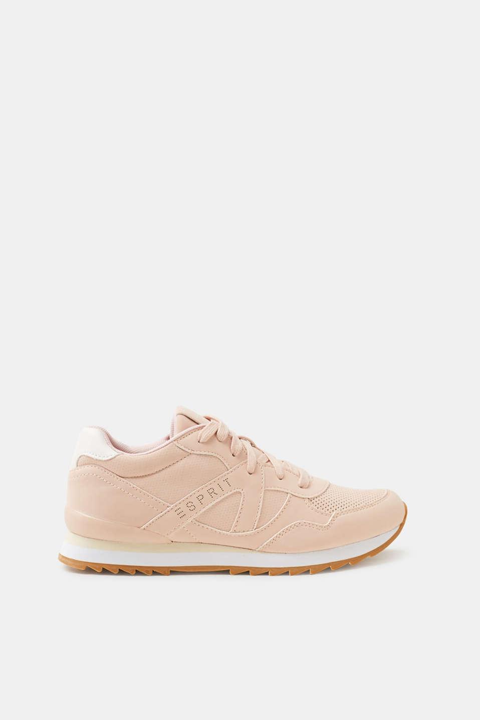 Esprit Knöchelhoher Sneaker in Leder-Optik für Damen, Größe 39, White