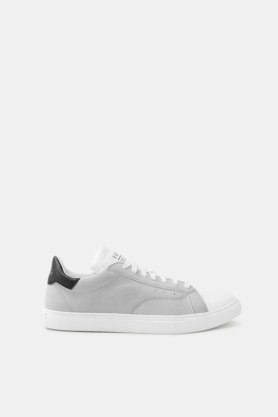 Esprit Retro-Sneaker in Leder-Optik für Damen, Größe 38, Medium Grey
