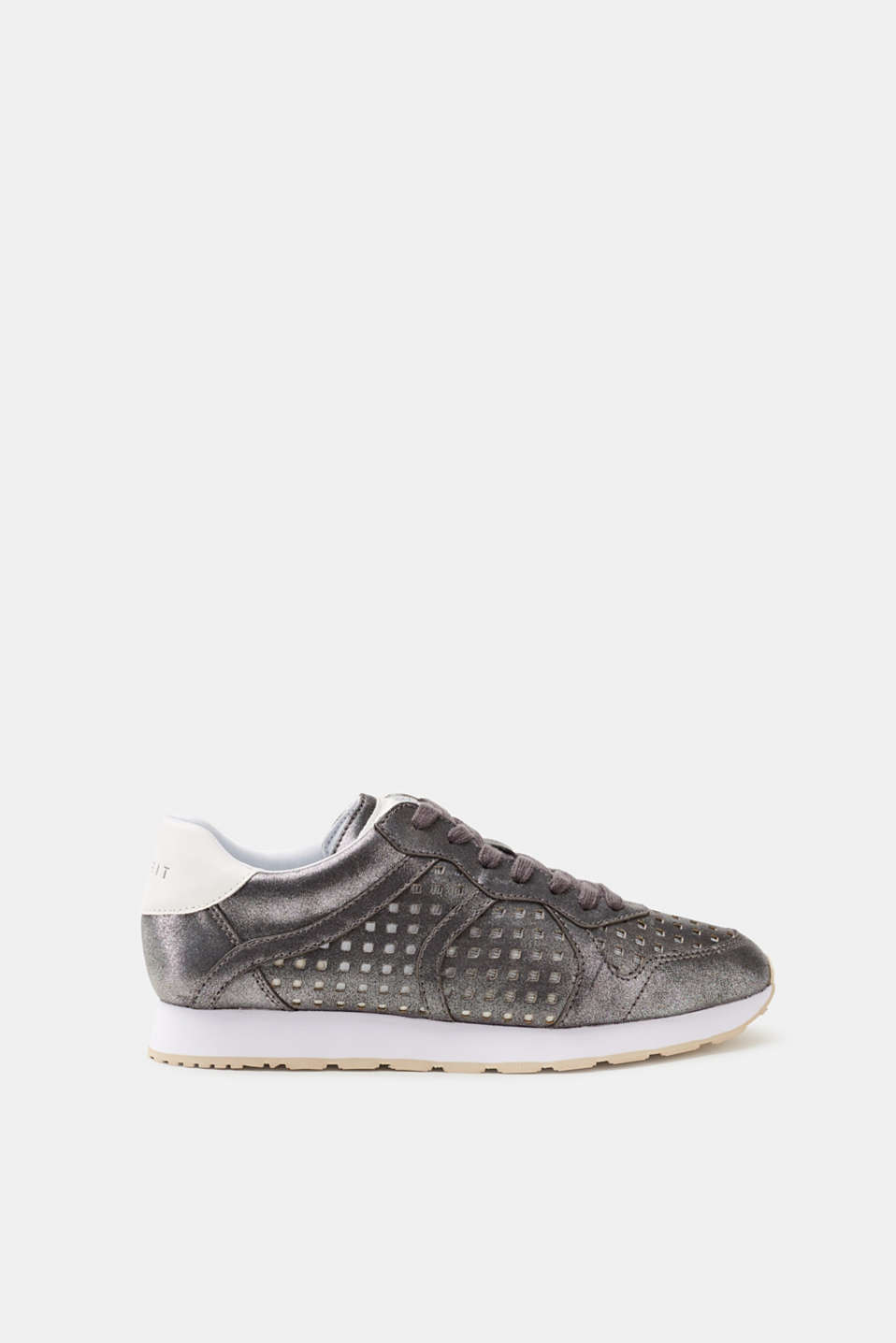 Esprit - Metallic trainers with an openwork pattern