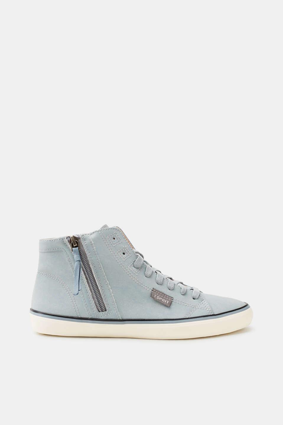 Esprit High-Top-Sneaker mit Reptilprägung für Damen, Größe 37, Pastel Grey