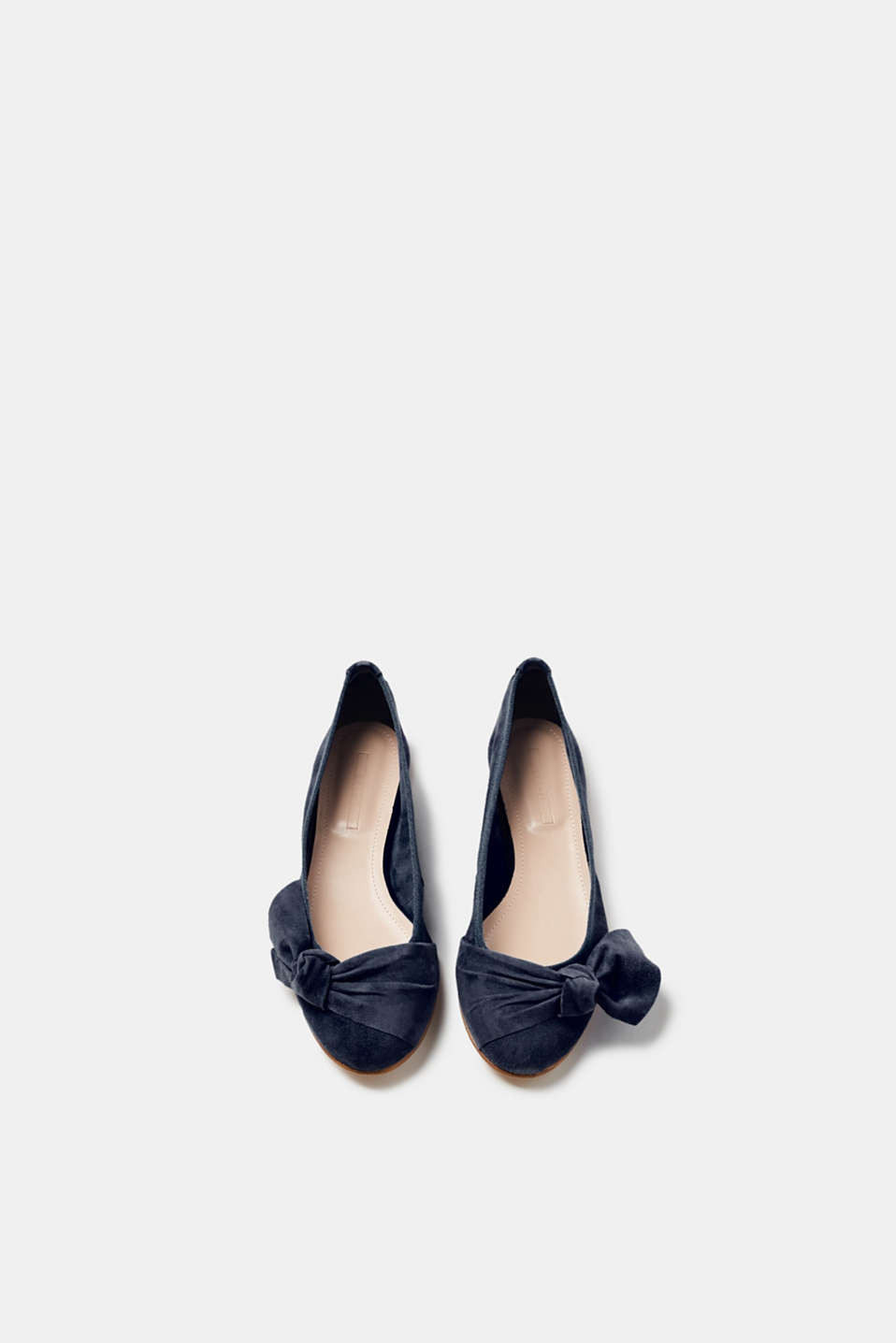 Suede ballerinas with knot details