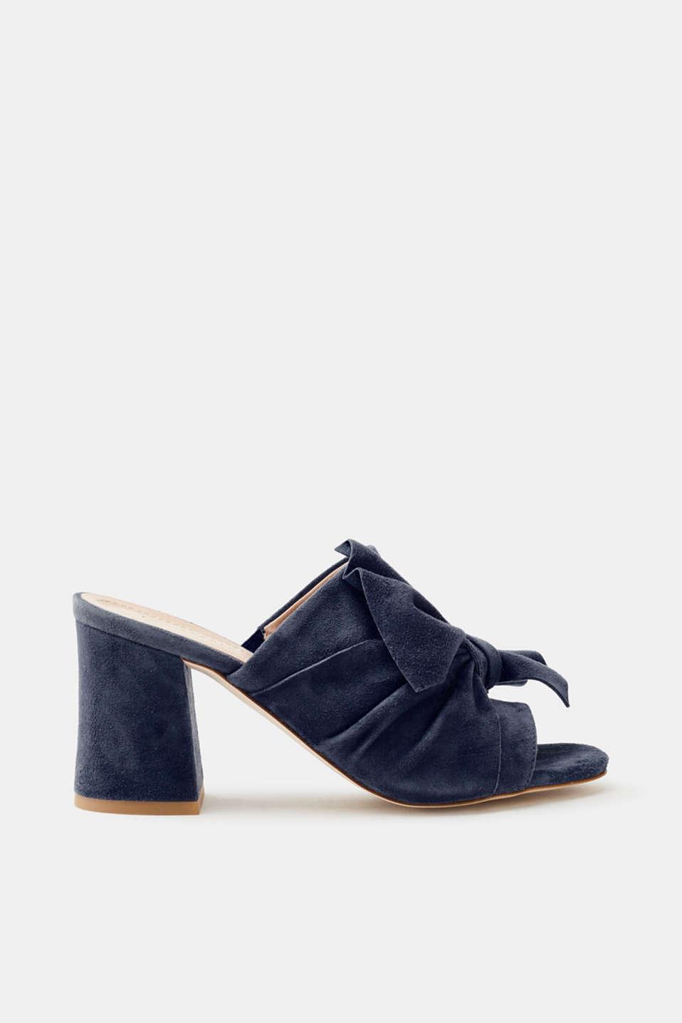 Esprit Mules in glatter Leder-Optik für Damen, Größe 38, Black