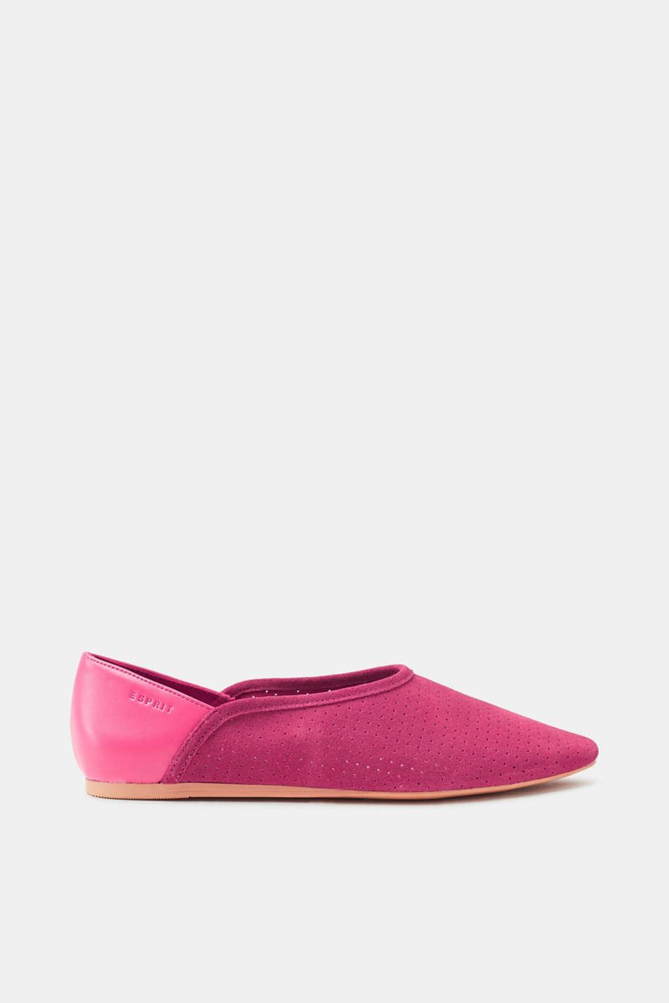 Esprit Flatform-Sneaker aus Veloursleder für Damen, Größe 36, Pink Fuchsia