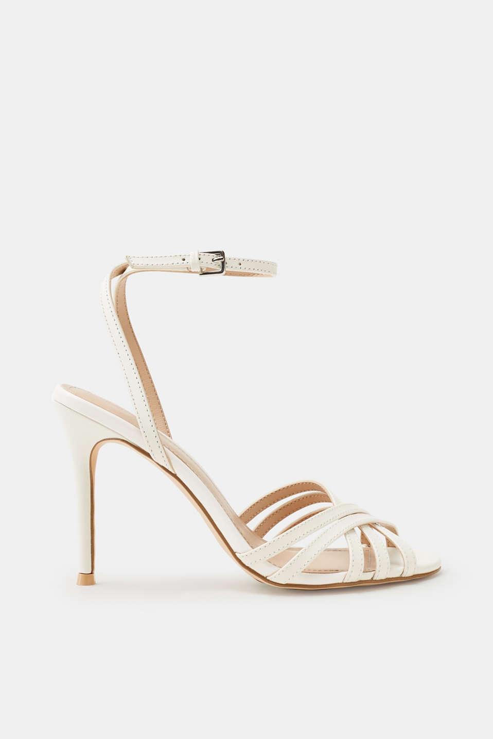 Esprit Elegante Sandalette aus Ziegenleder für Damen, Größe 42, Pastel Pink