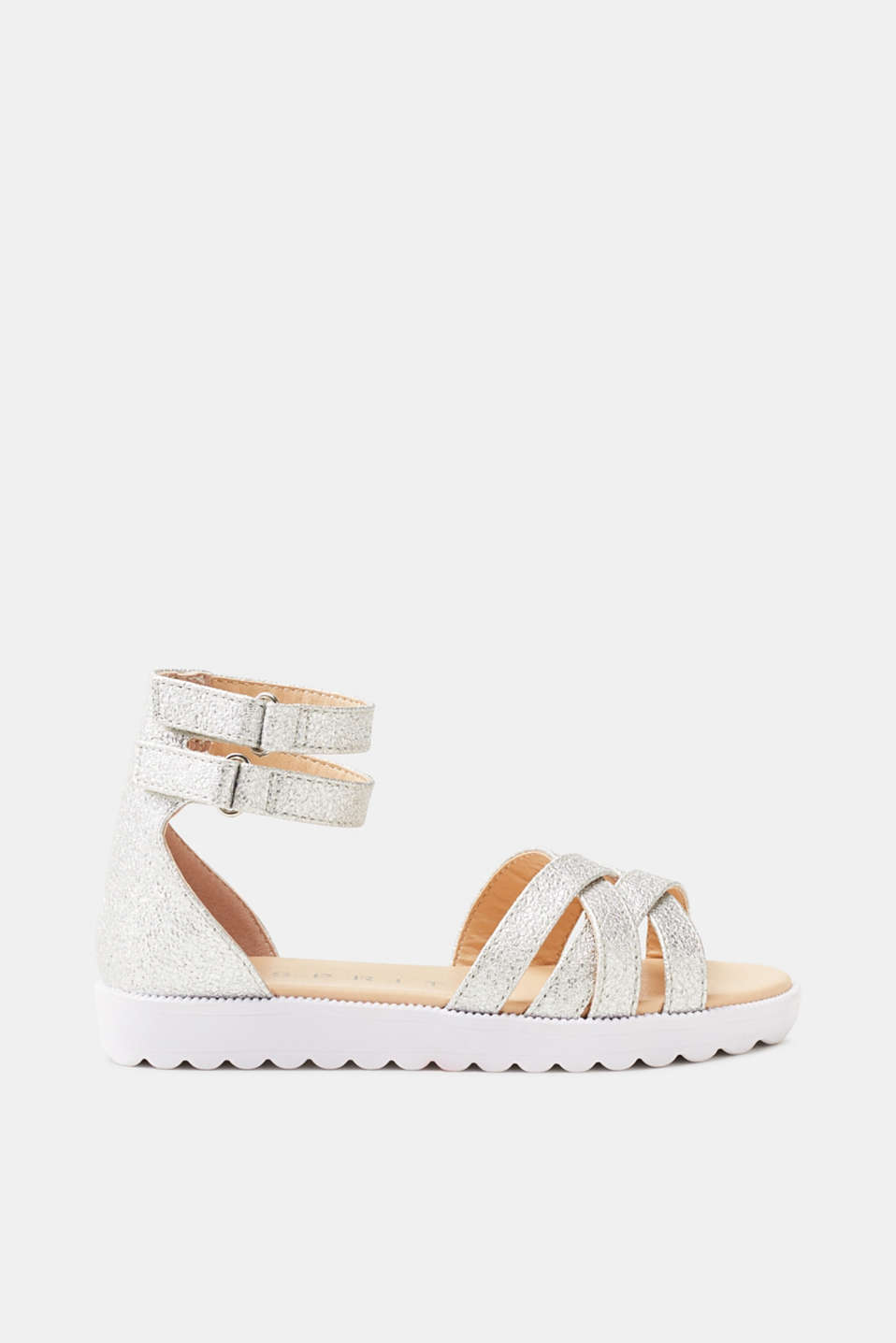 Esprit - Strappy sandals with a glitter effect