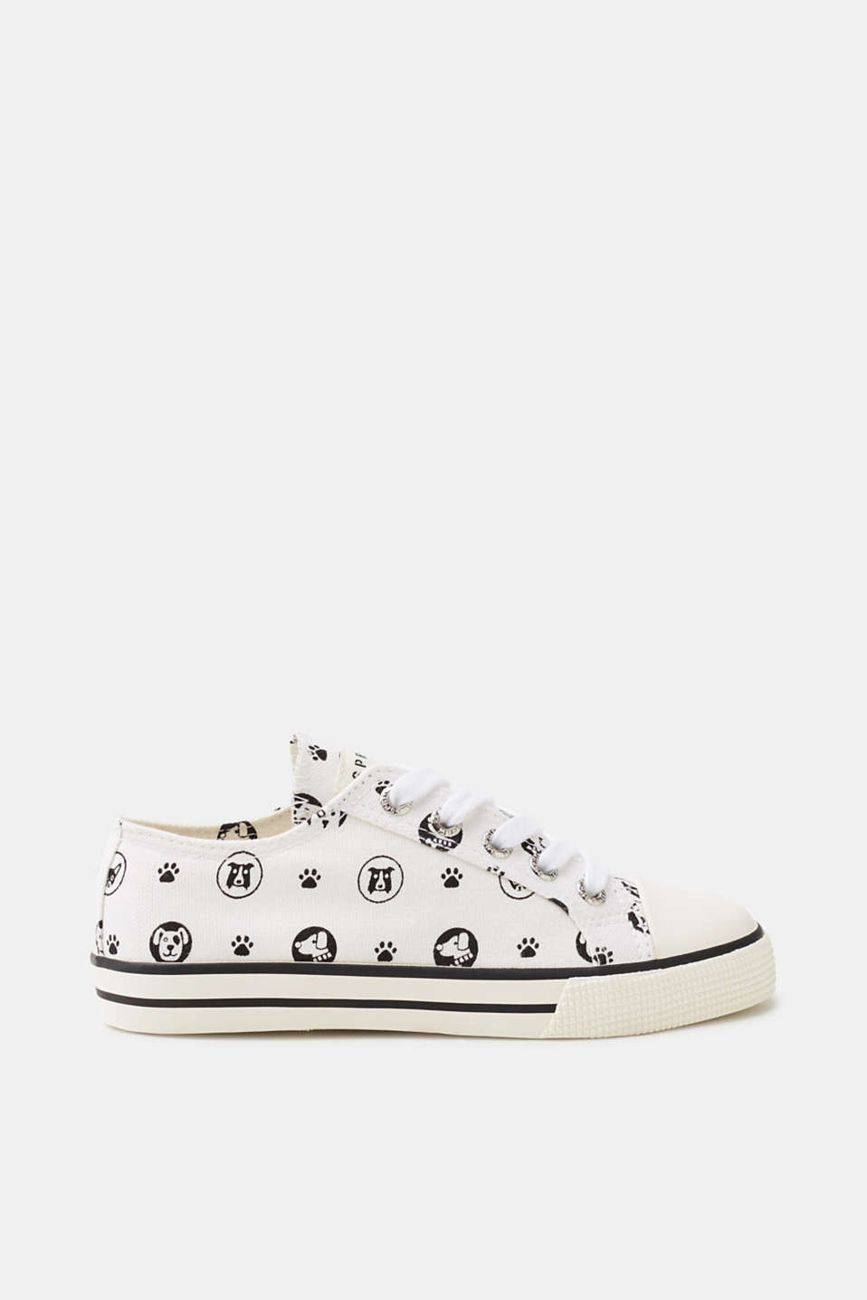 Classic trainers! These retro trainers impress with their charming dog print.