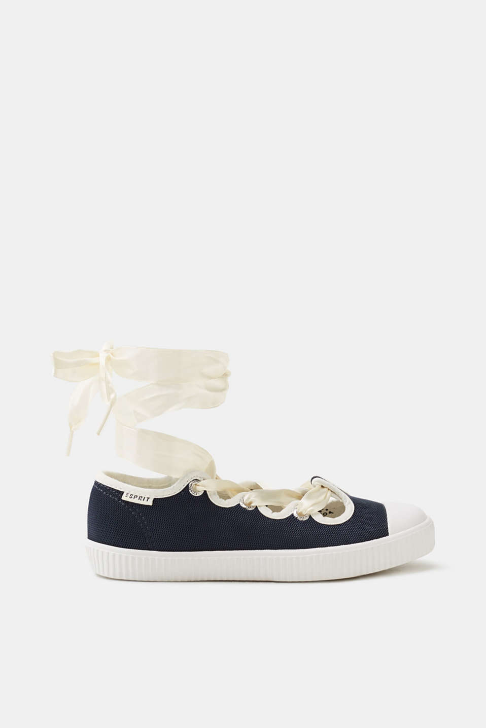 Esprit - Sporty ballerinas with ties