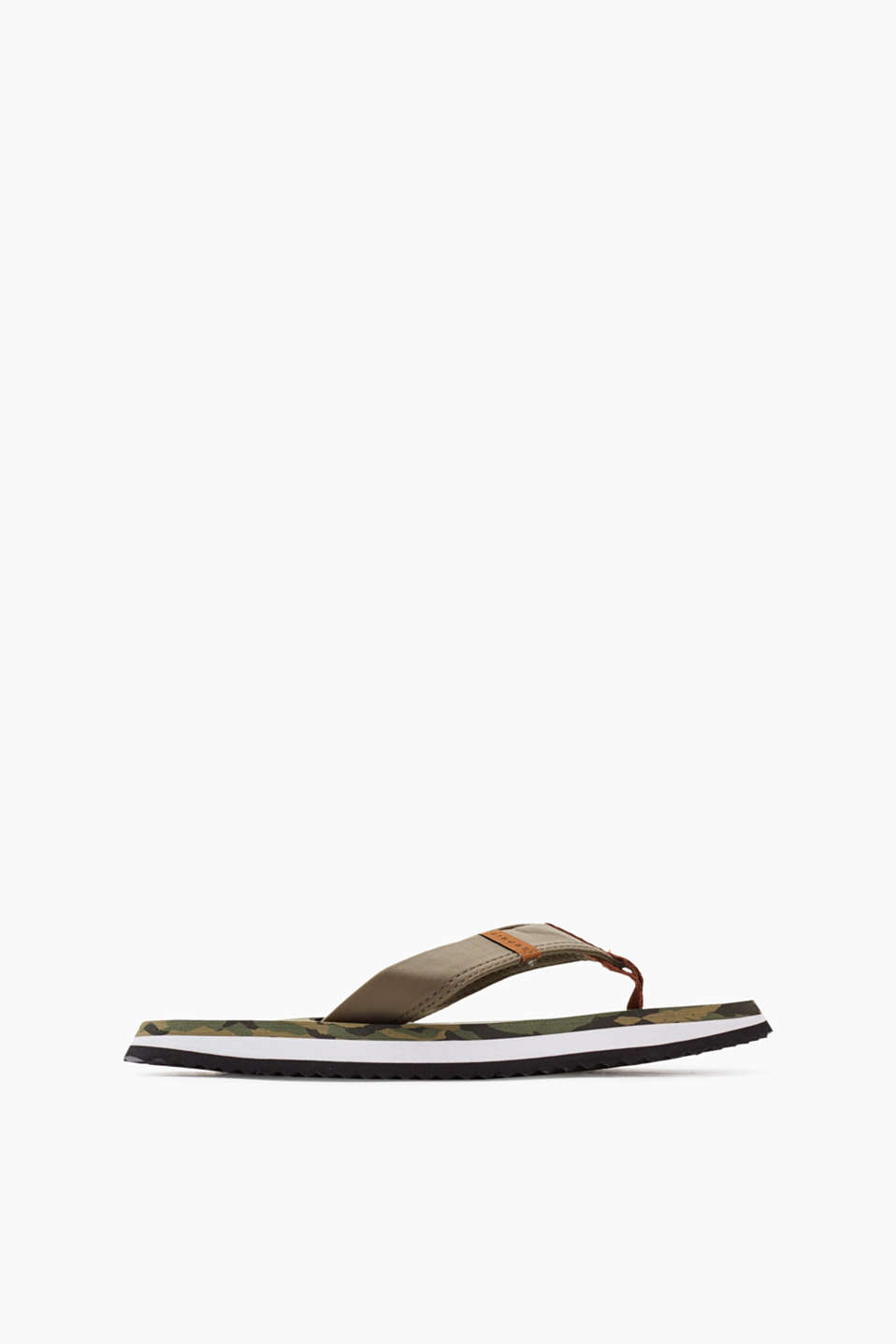 Esprit - Toe-post sandals with camouflage pattern