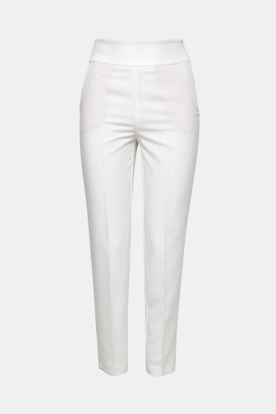 These high-waisted crêpe trousers with stretch are perfect for that special day and then for ever after as an elegant piece!