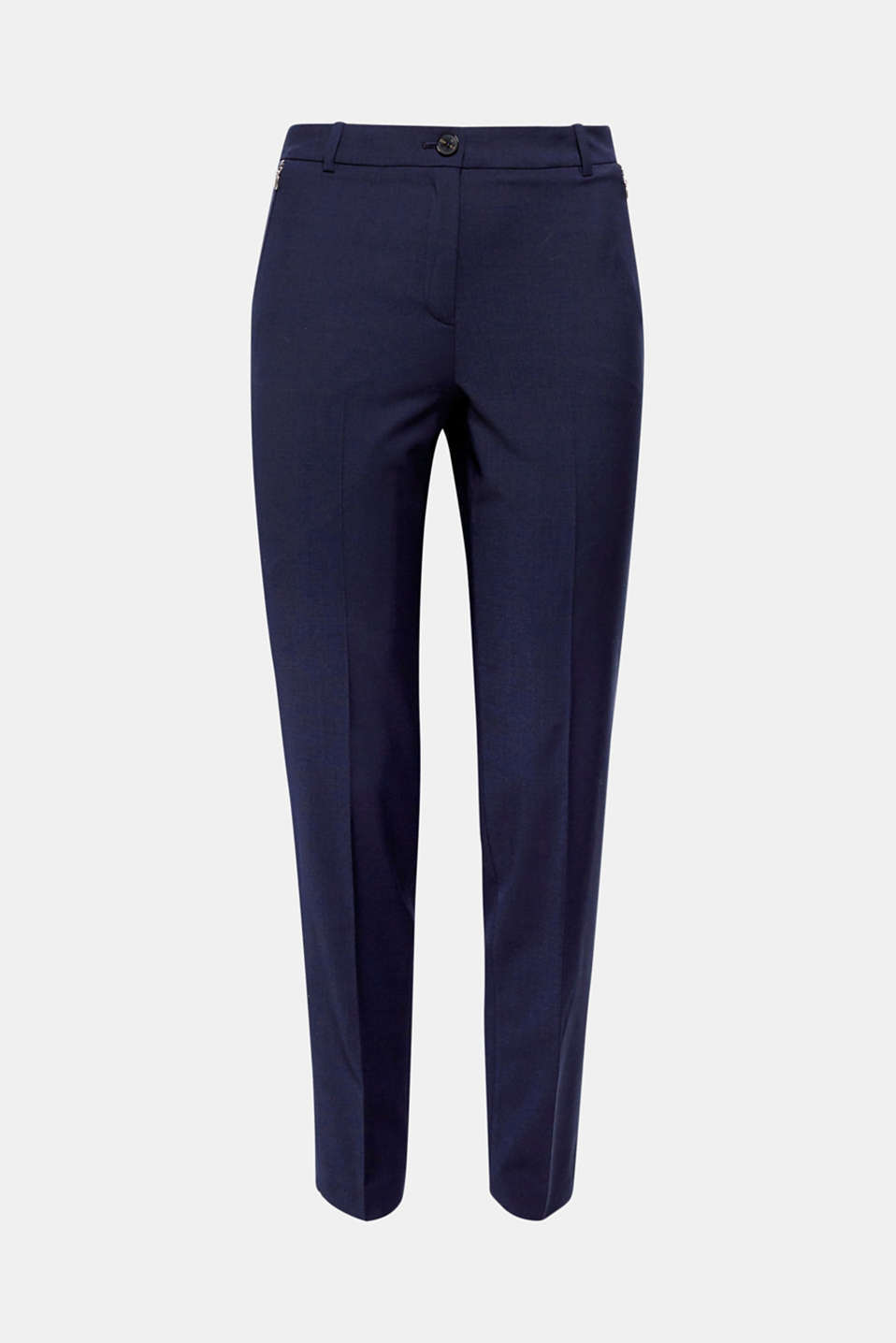 Move the way you want and feel fantastic as well as awesomely attired in these ankle-length, bi-stretch trousers!