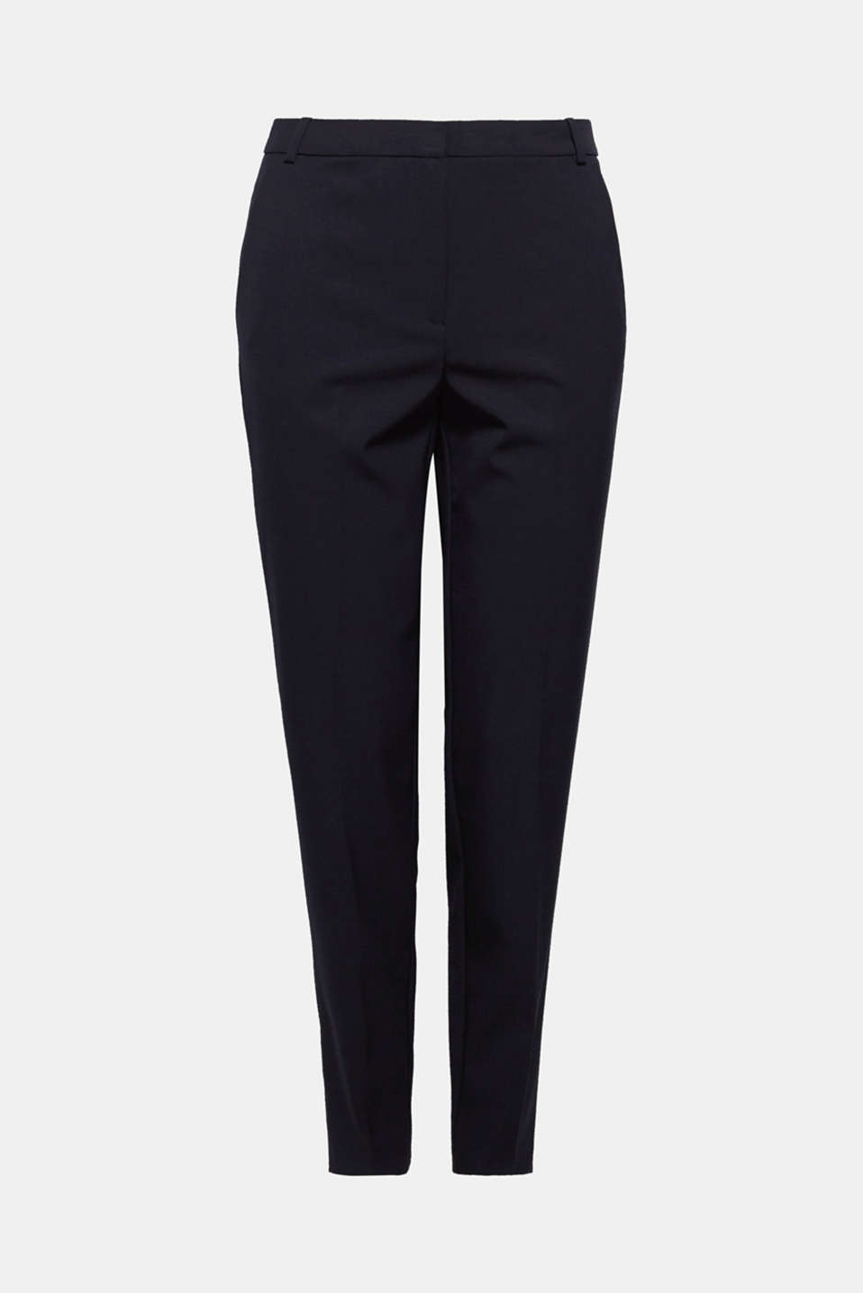 These softly draped, lightweight trousers in a clean look can be worn on their own or paired with the matching blazer!