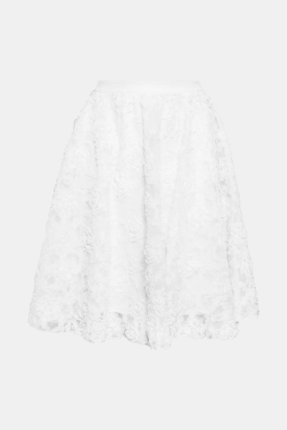 Say YES - to this party skirt which impresses with its delicately embroidered tulle and swirling shape.