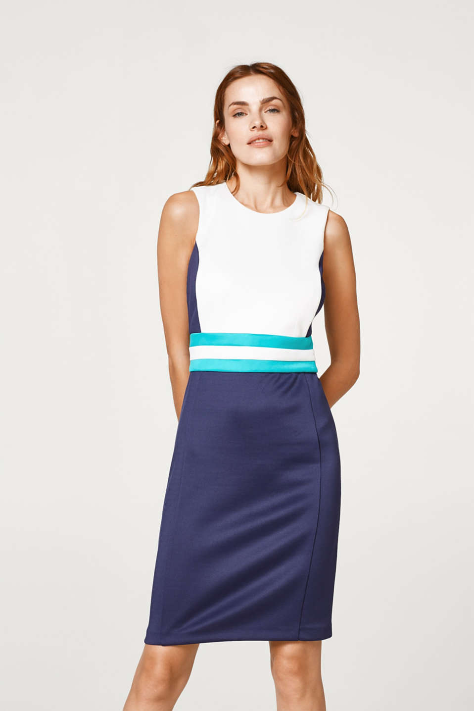 Esprit - Jersey colour block sheath dress