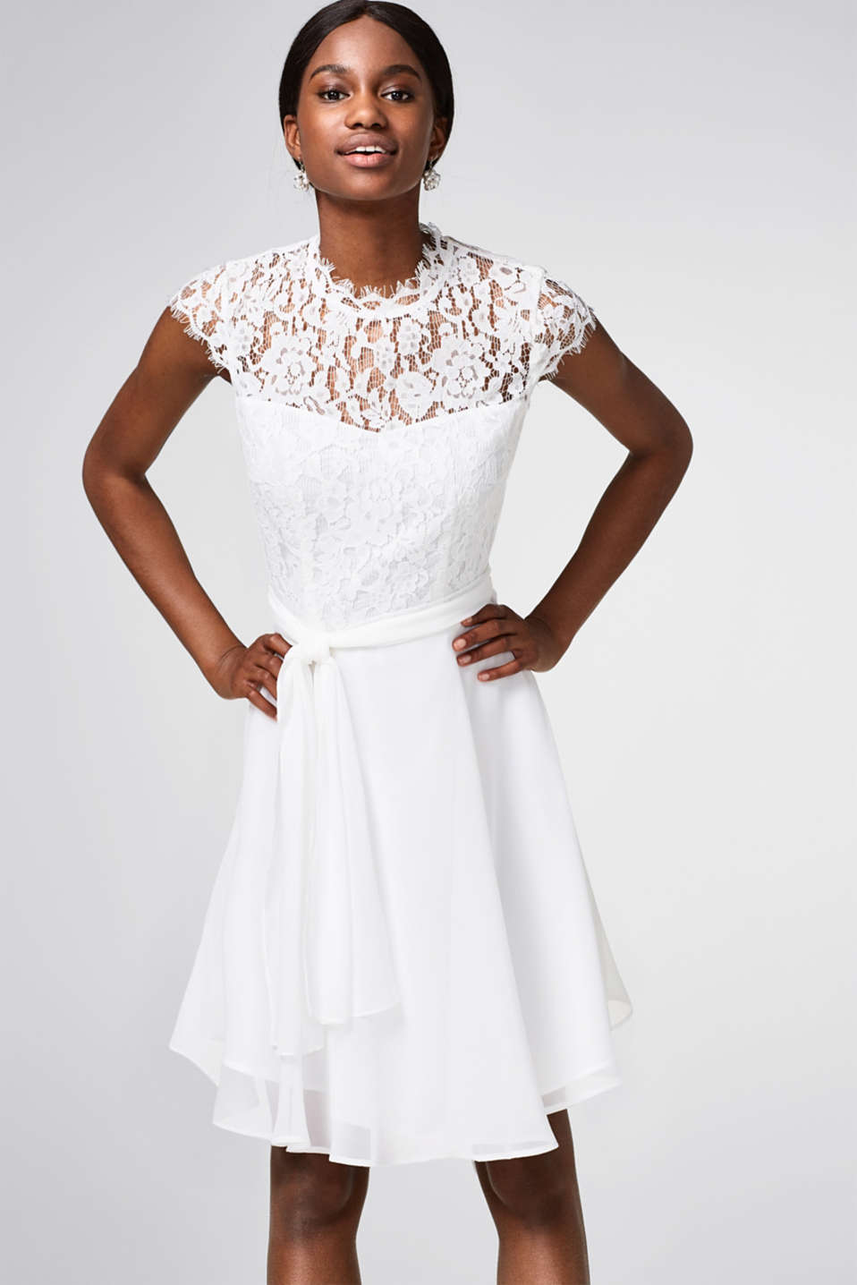 Esprit - Cocktail/wedding dress in lace and chiffon