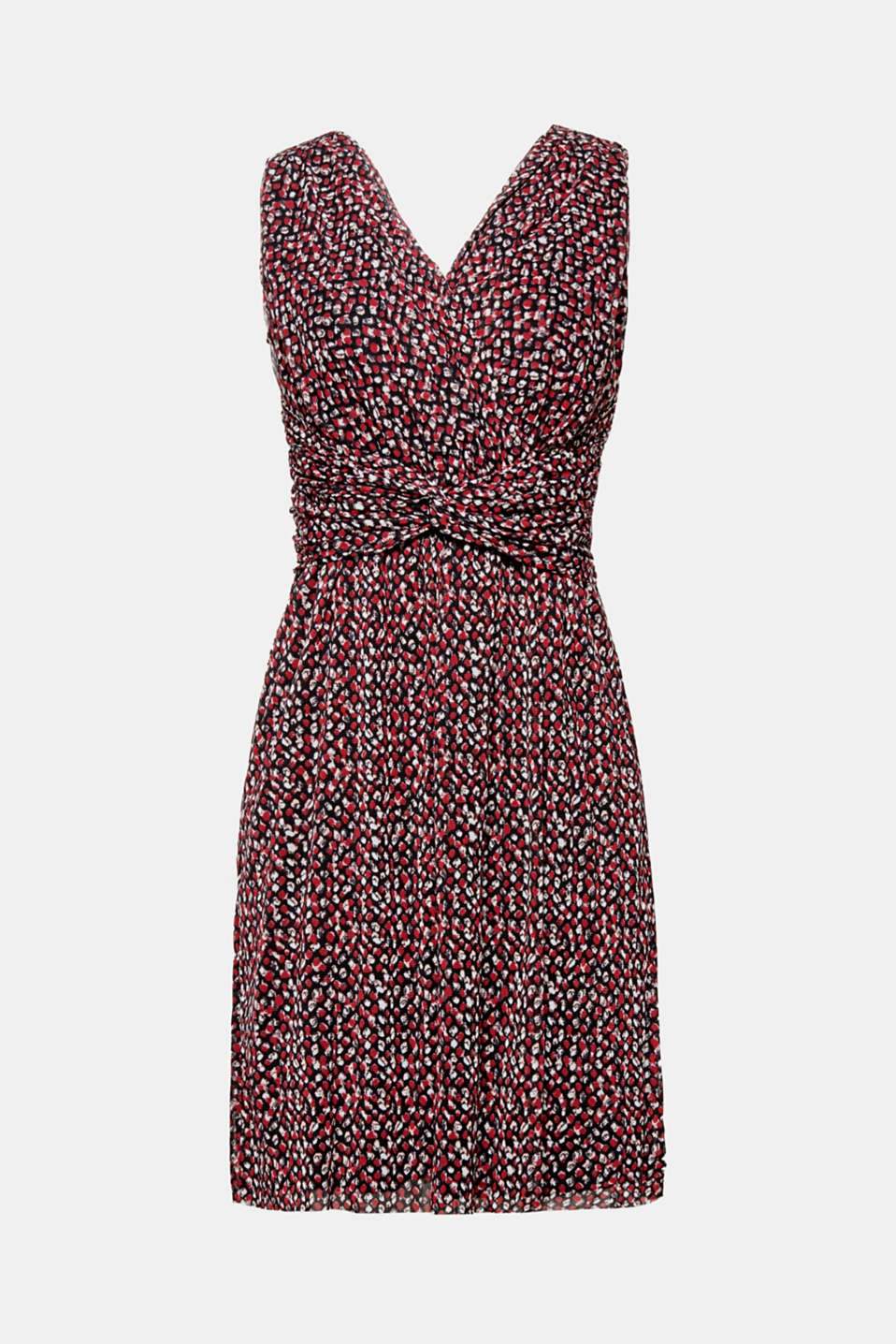 This flowing mesh dress suitable for many different occasions is a fine, eye-catching piece thanks to its polka dot pattern.
