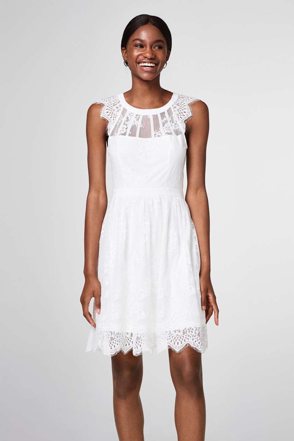 Esprit - Kurzes Brautkleid aus floraler Spitze im Online Shop kaufen