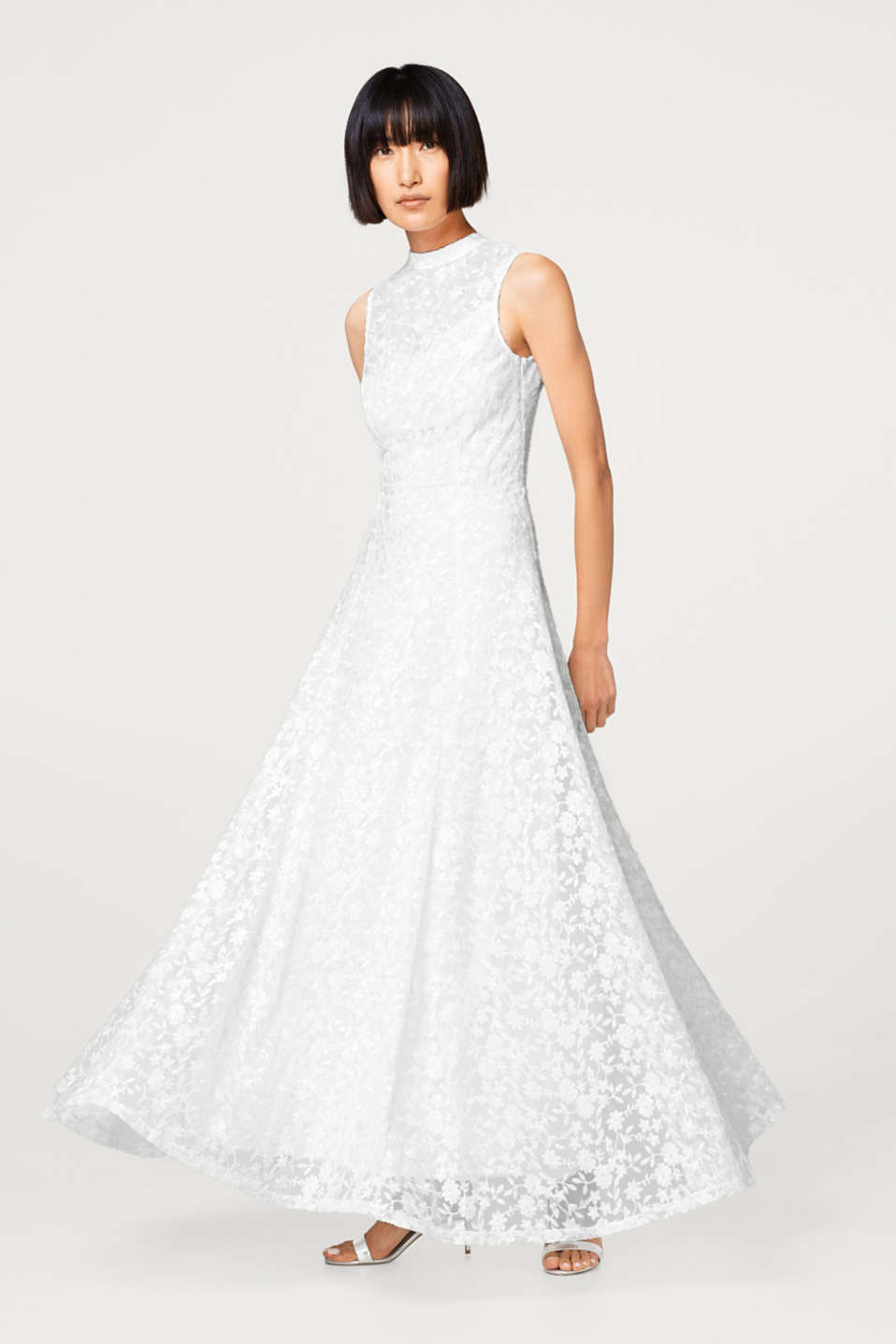 Esprit - Wedding dress in floral embroidered mesh