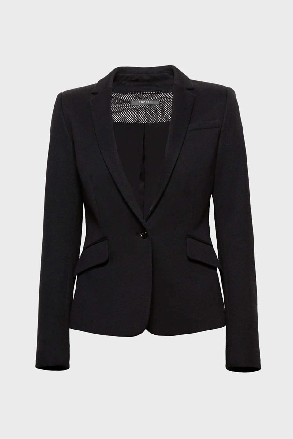 Cool cut, sporty material: This combination makes the fitted piqué blazer particularly versatile!