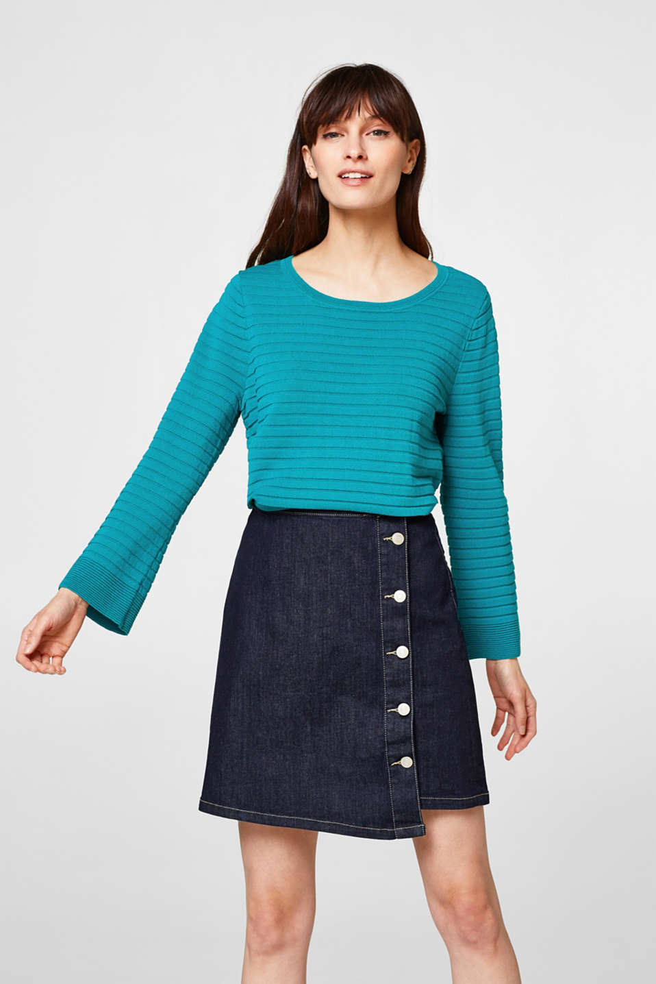 Esprit - Lightweight, modern ribbed jumper