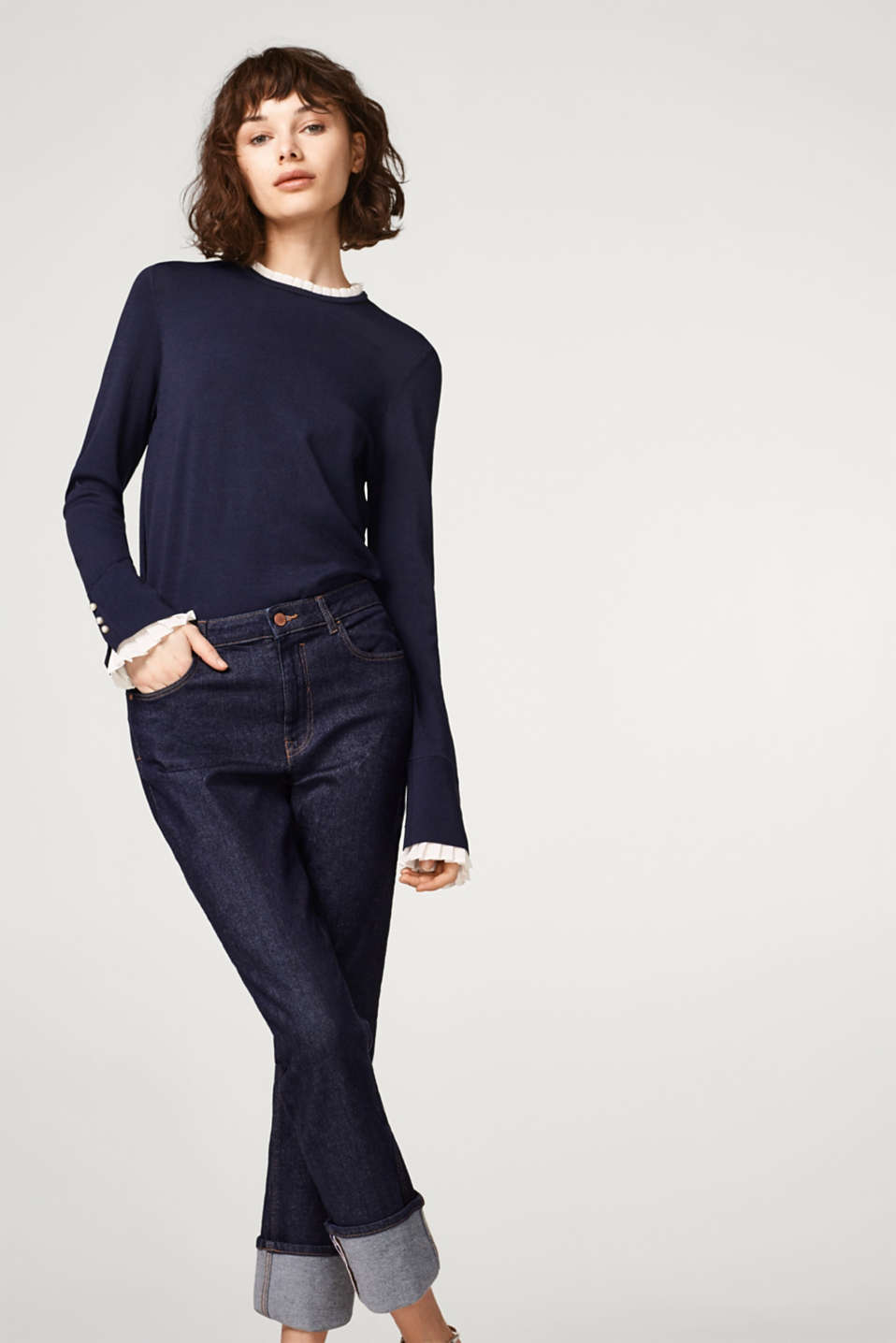 Esprit - Soft jumper with pleated details