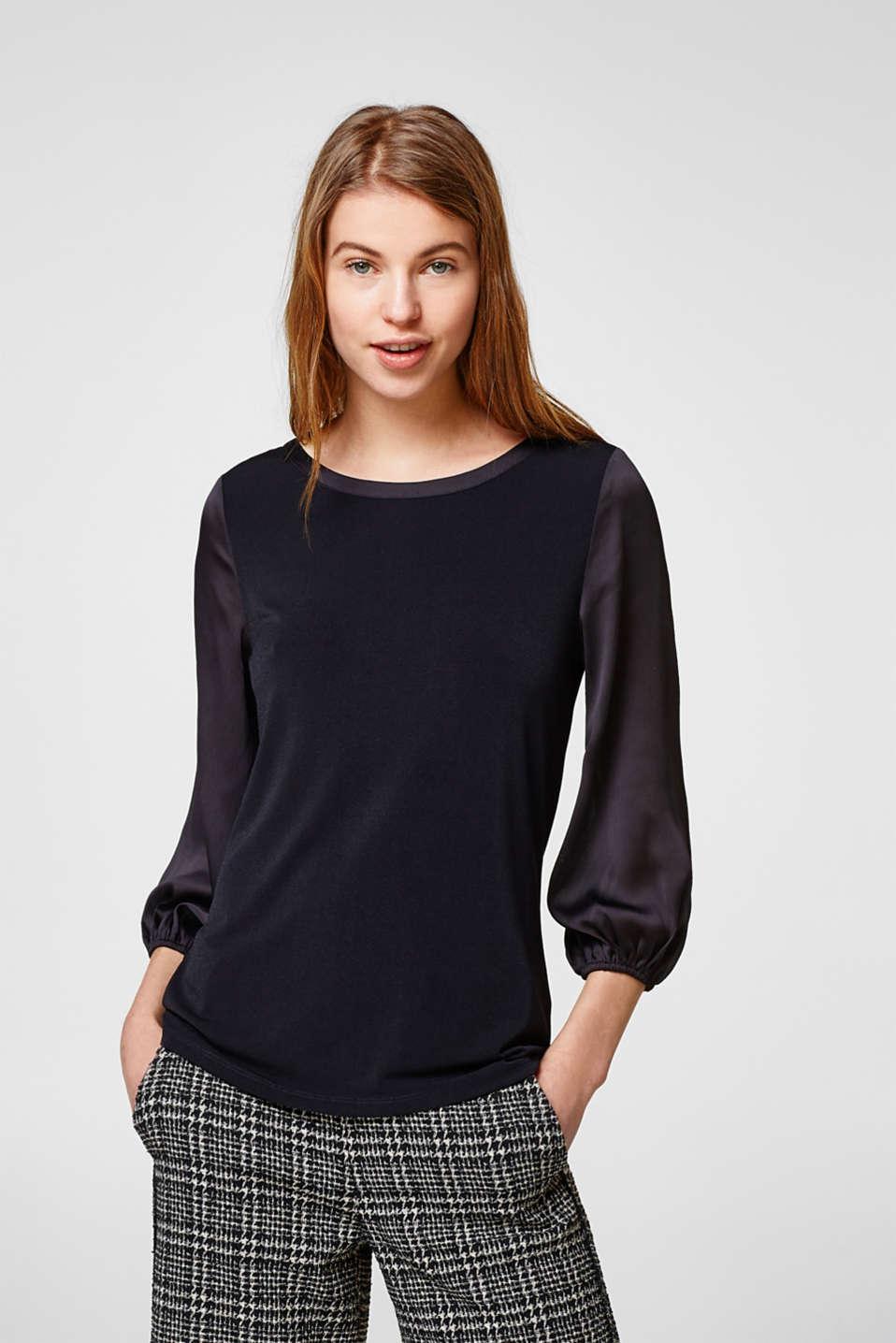 esprit flie endes shirt mit ballon rmeln im online shop kaufen. Black Bedroom Furniture Sets. Home Design Ideas