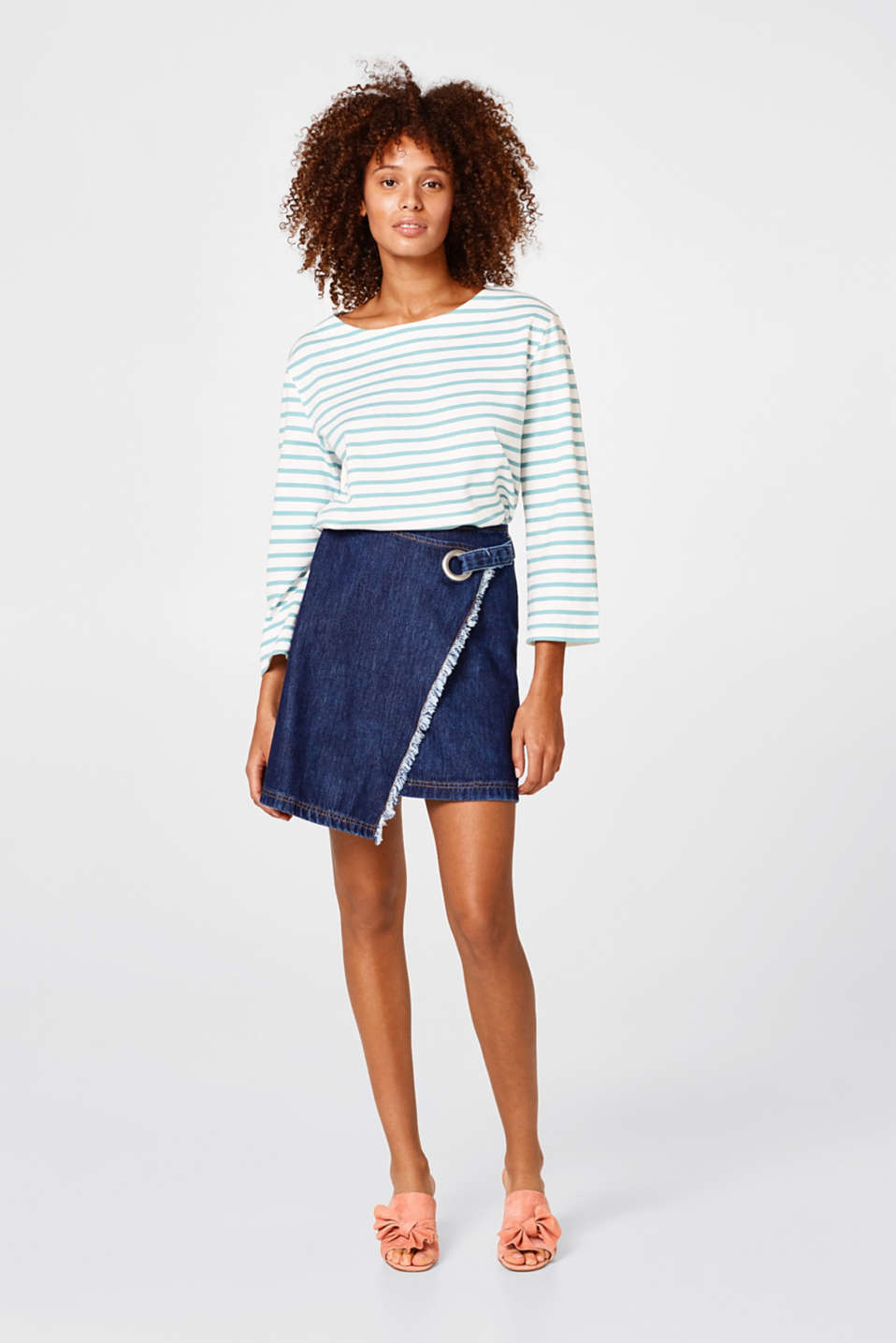 Casual striped T-shirt in 100% cotton