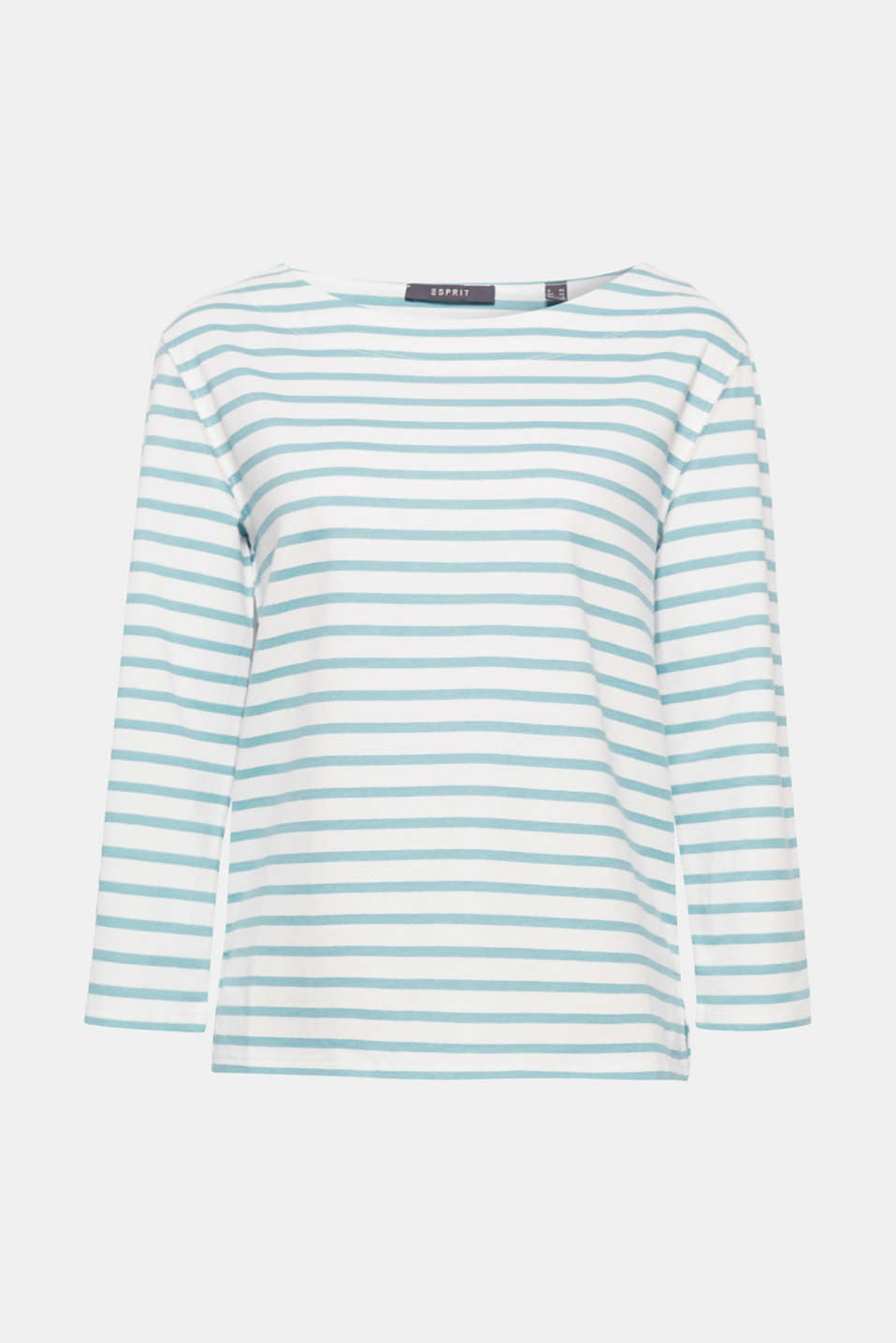 Casual favourite: this striped top stands out thanks to its soft texture and oval elbow patches!