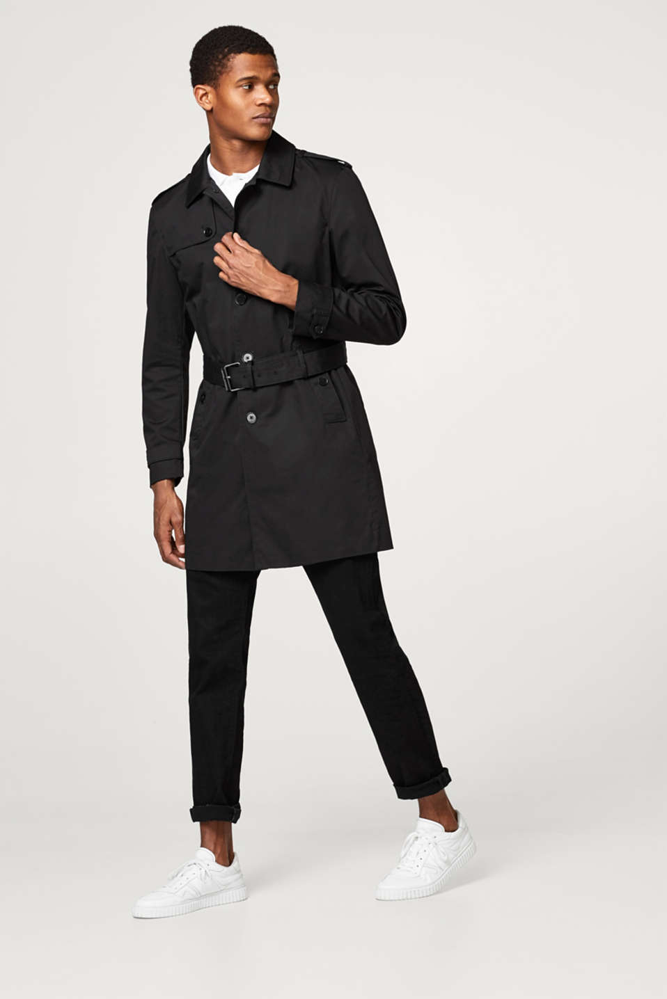Premium 100% cotton trench coat