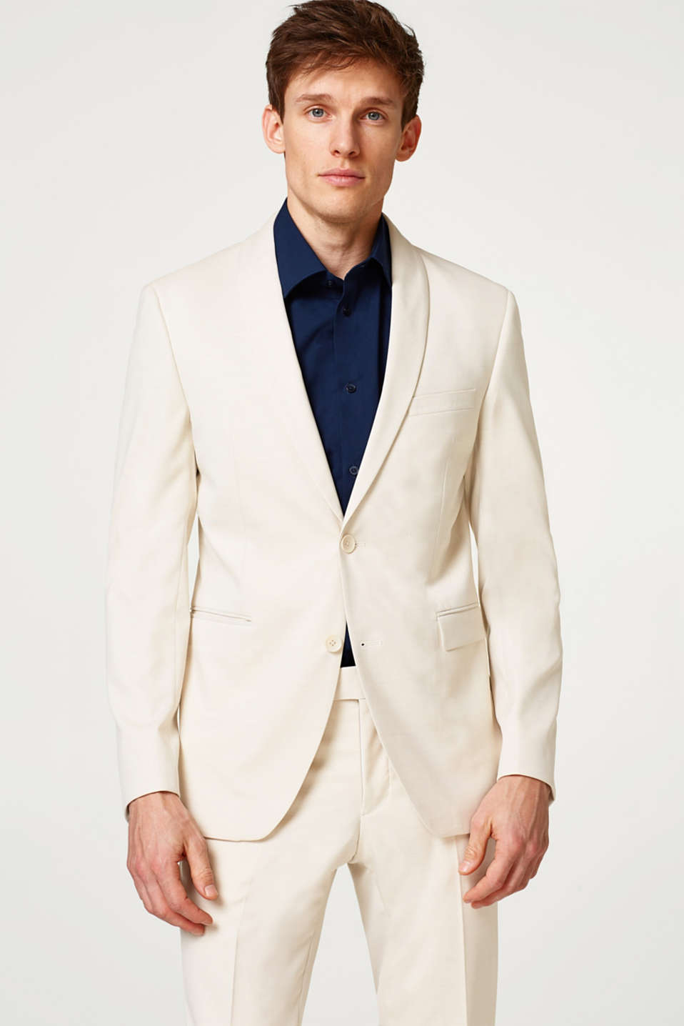 Esprit - Pale suit jacket + added stretch for comfort