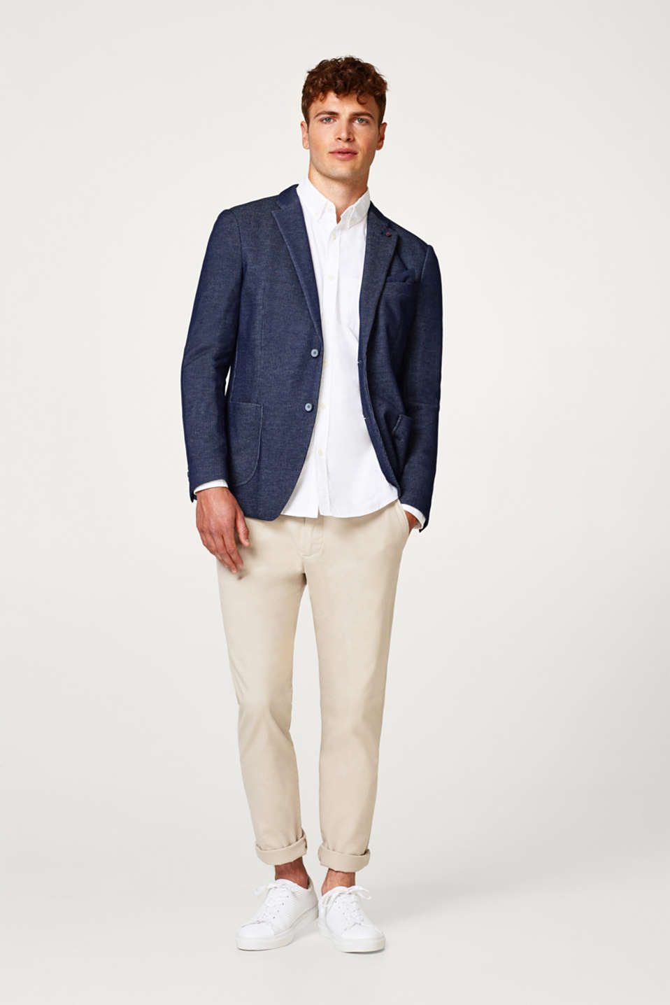 Textured blazer in a two-tone look
