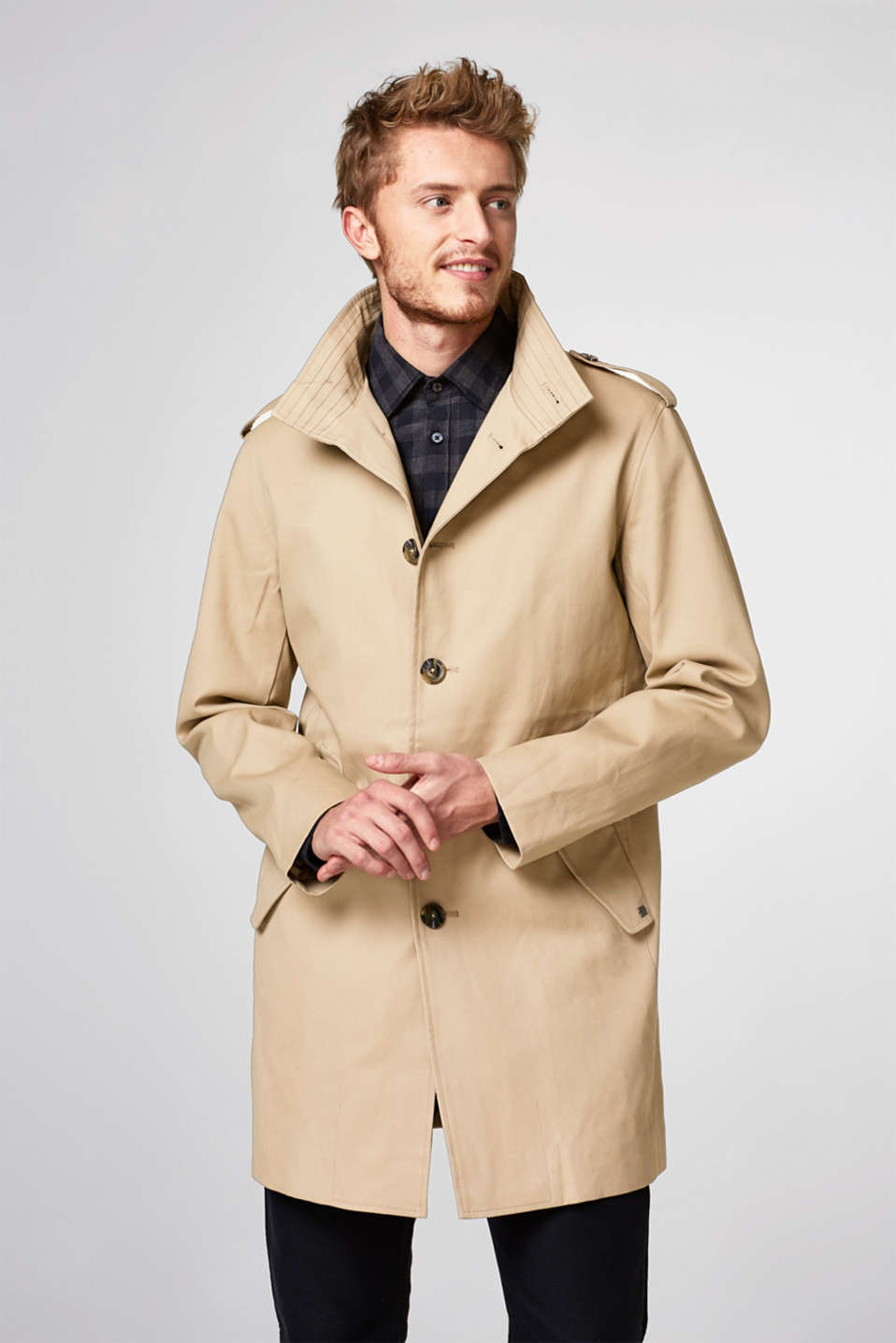 Esprit - Timeless coat with a stand-up collar