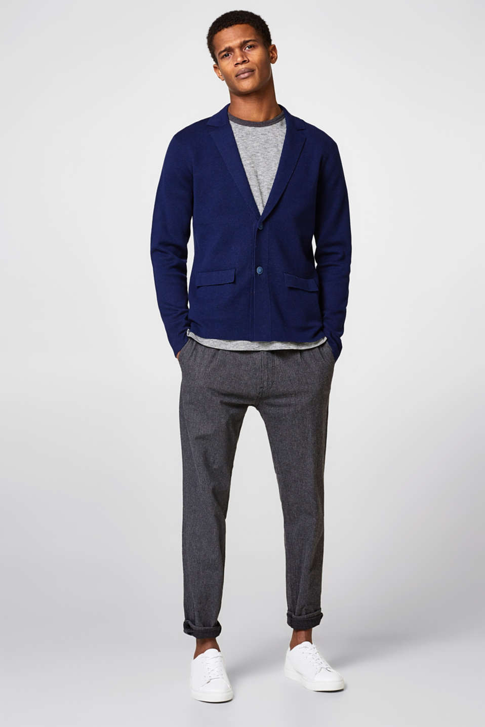 Knitted blazer in pure cotton