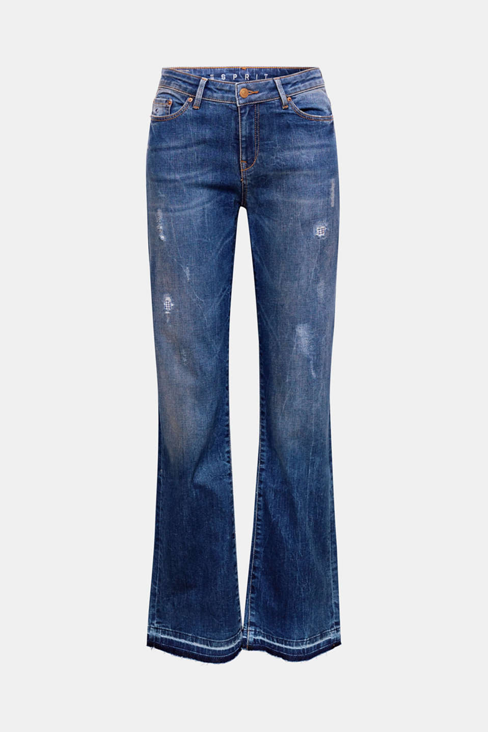 We love distressed denim! The destroyed finish and bootcut design give these jeans their unique style.